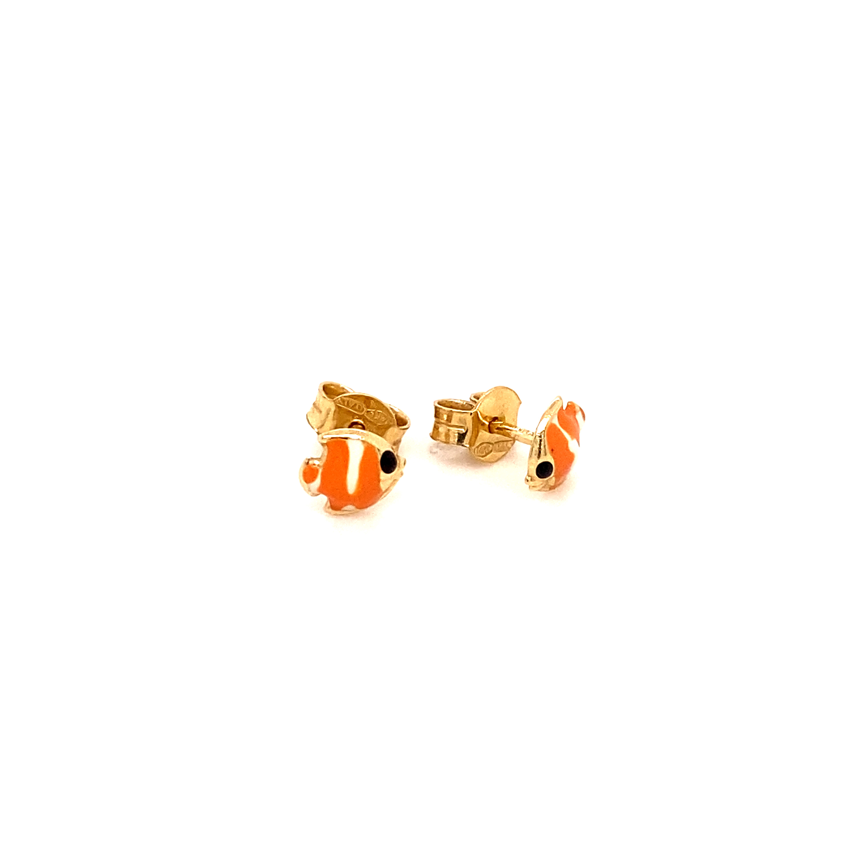 585 Gold Ohrring  | Fish