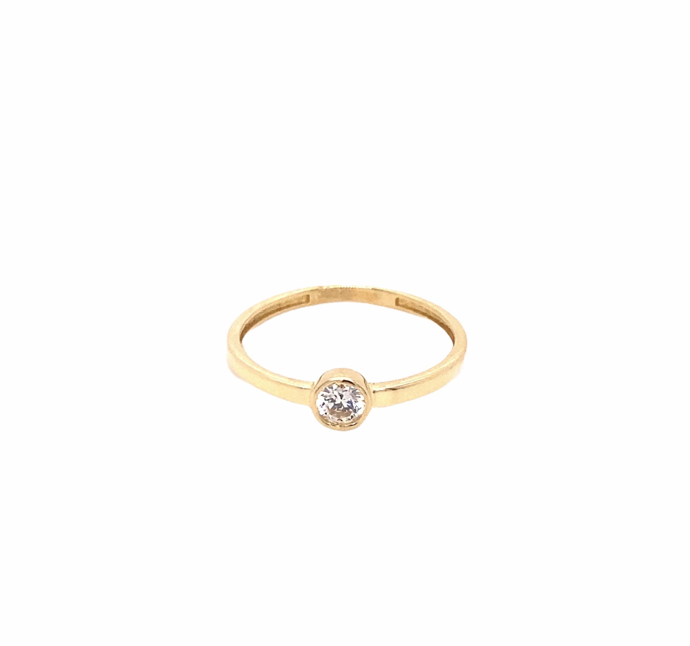 585 Gold Ring | Solitär