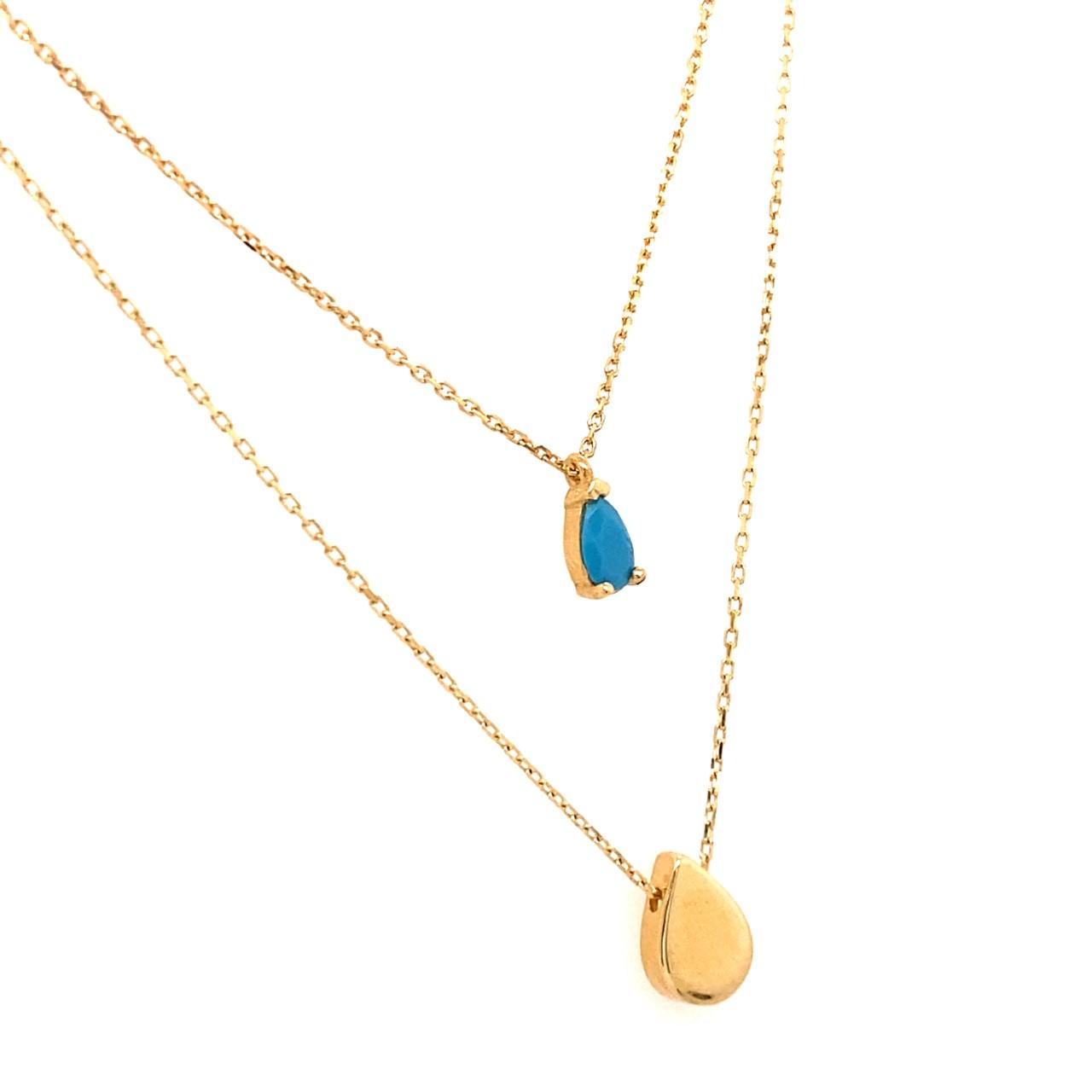 585 Gold Kette | Tropfen