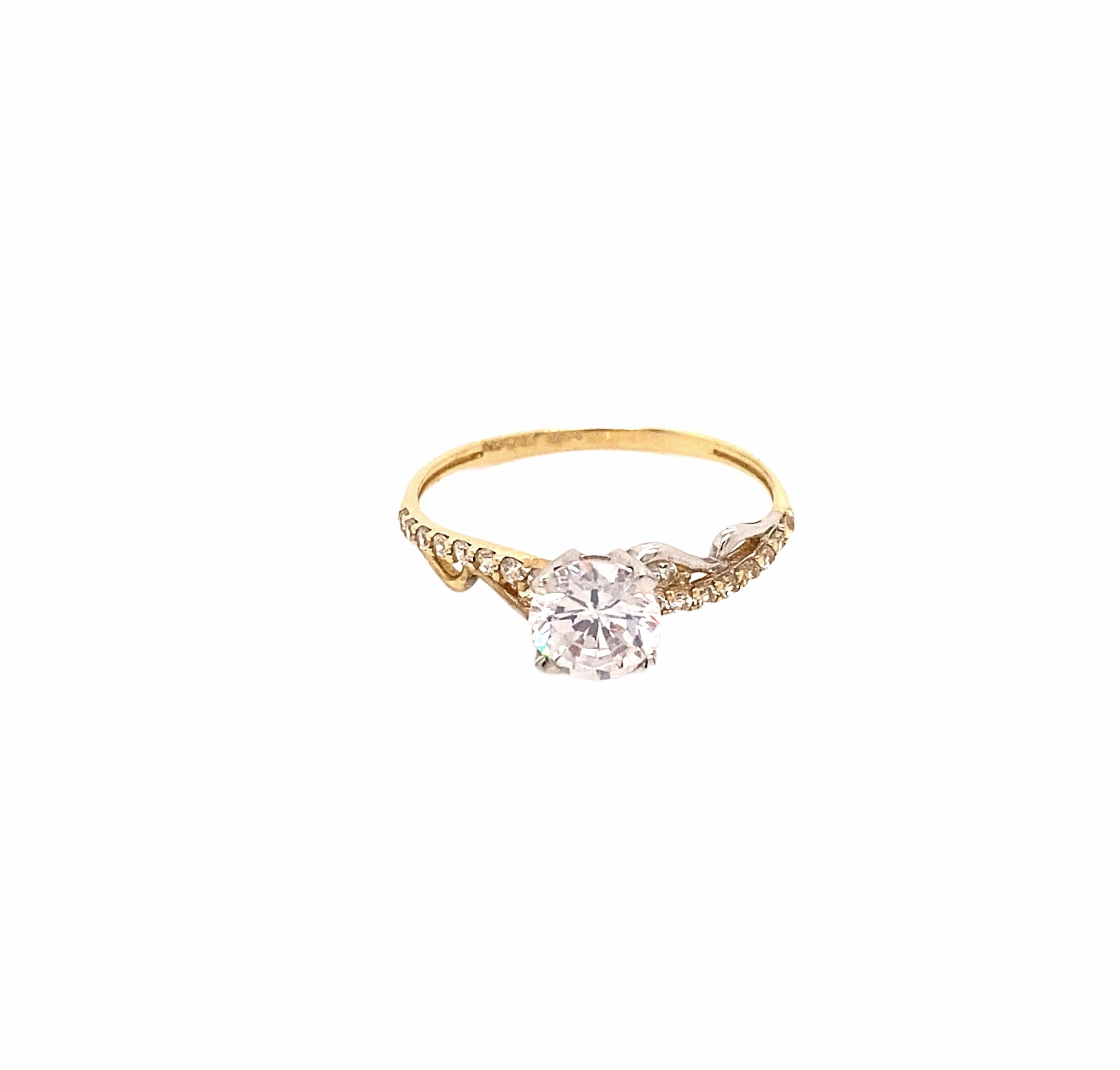 585 Kocak Gold Ring | Tek Tas Gr. 56