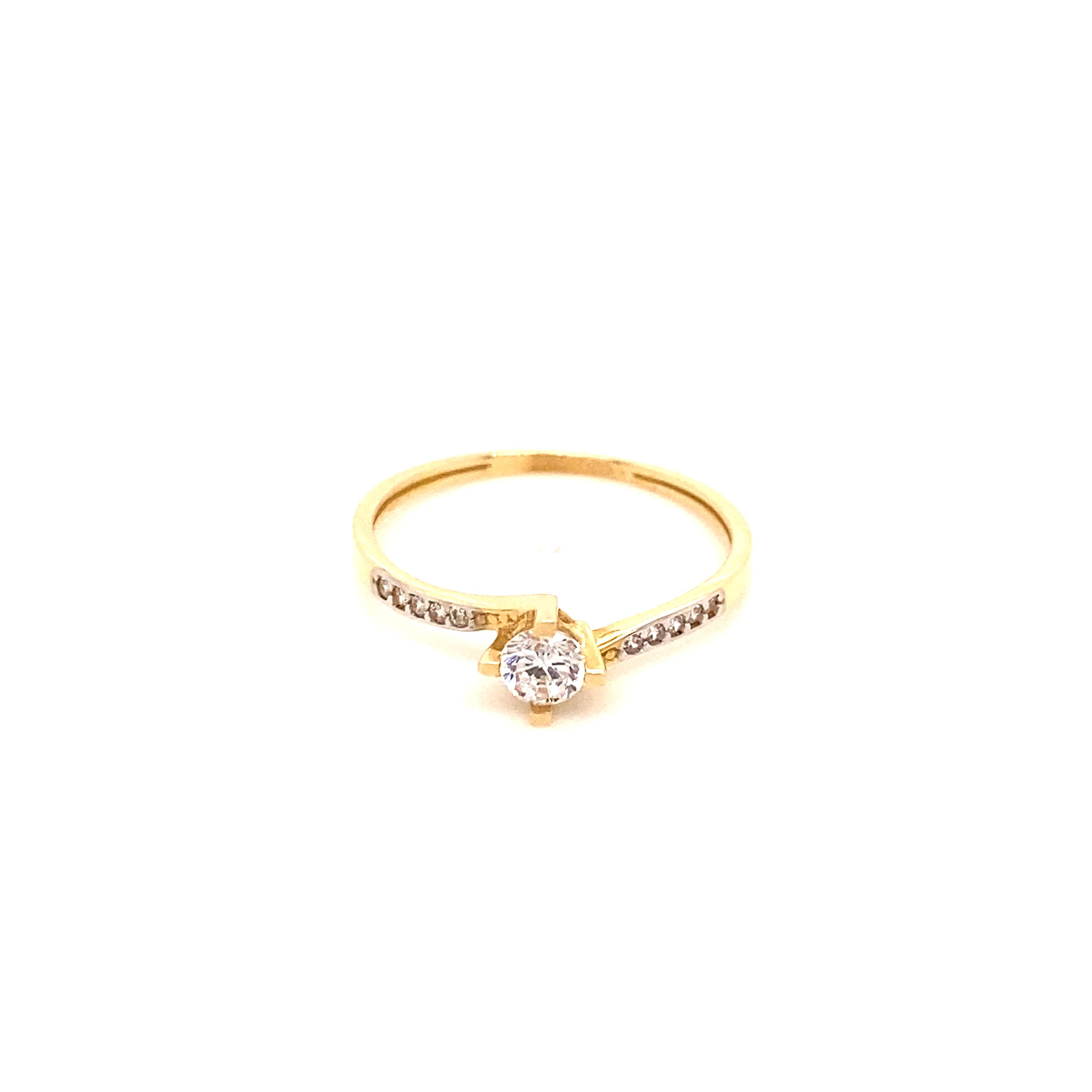 585 Gold Ring | Tek Tas  Gr. 56,5