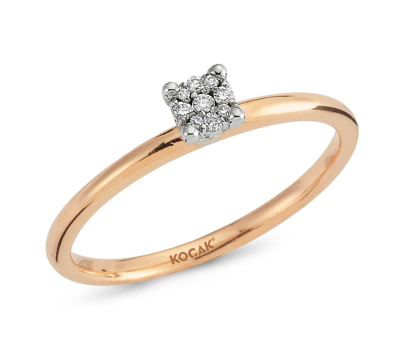 750 Kocak Gold   Rose Diamant Ring