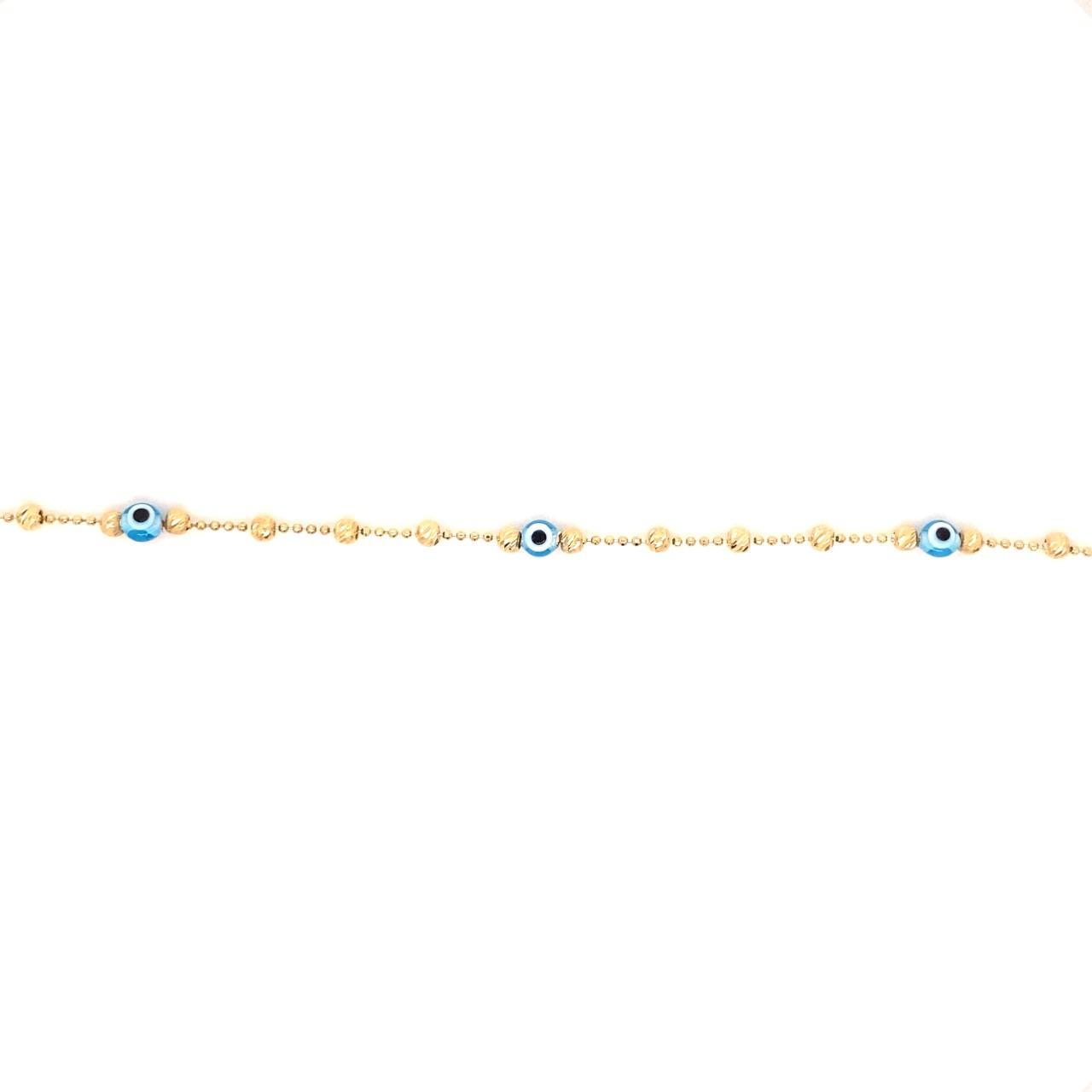 585 Gold Armkette   Blue Nazar