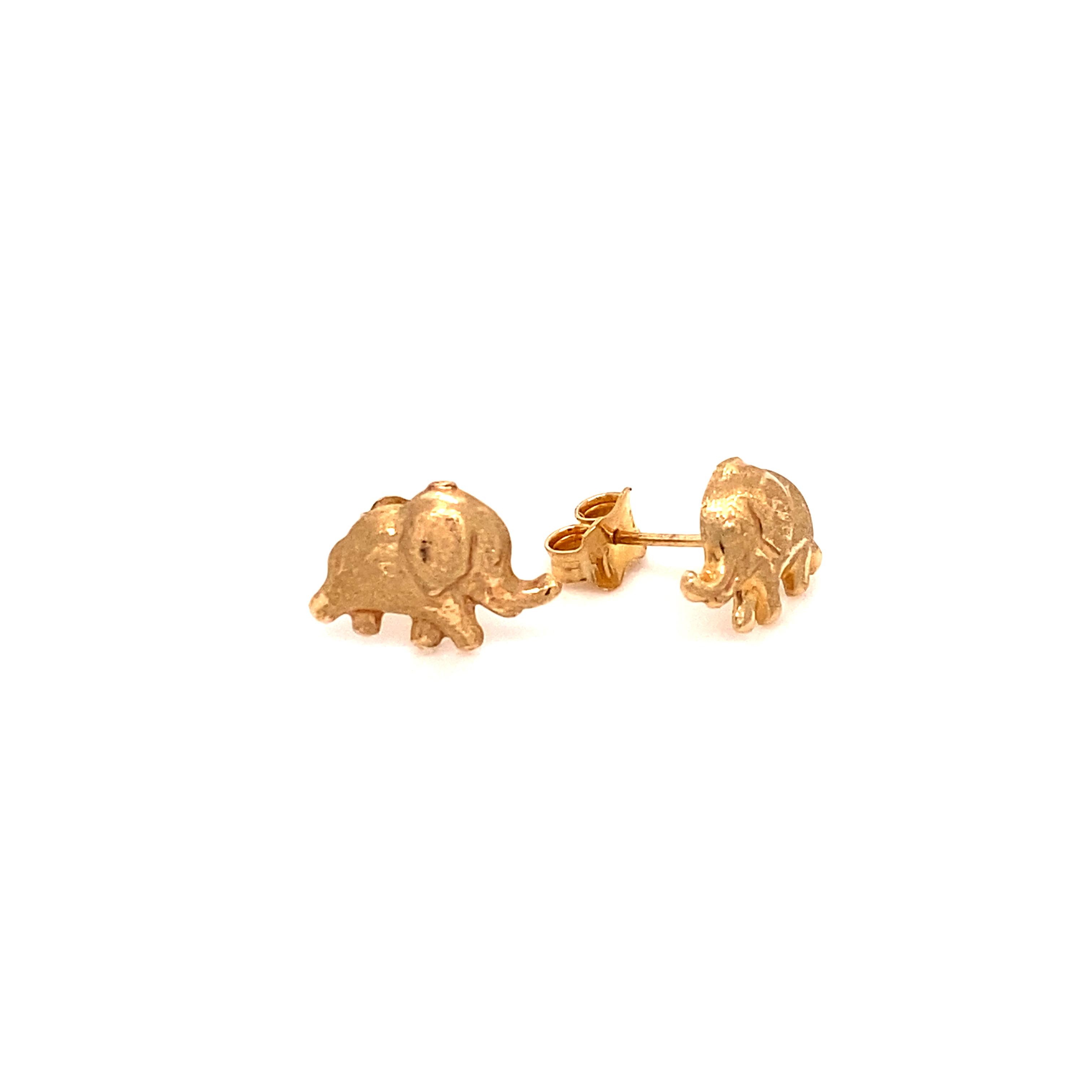 585 Gold Ohrring  | Elefant 2.0