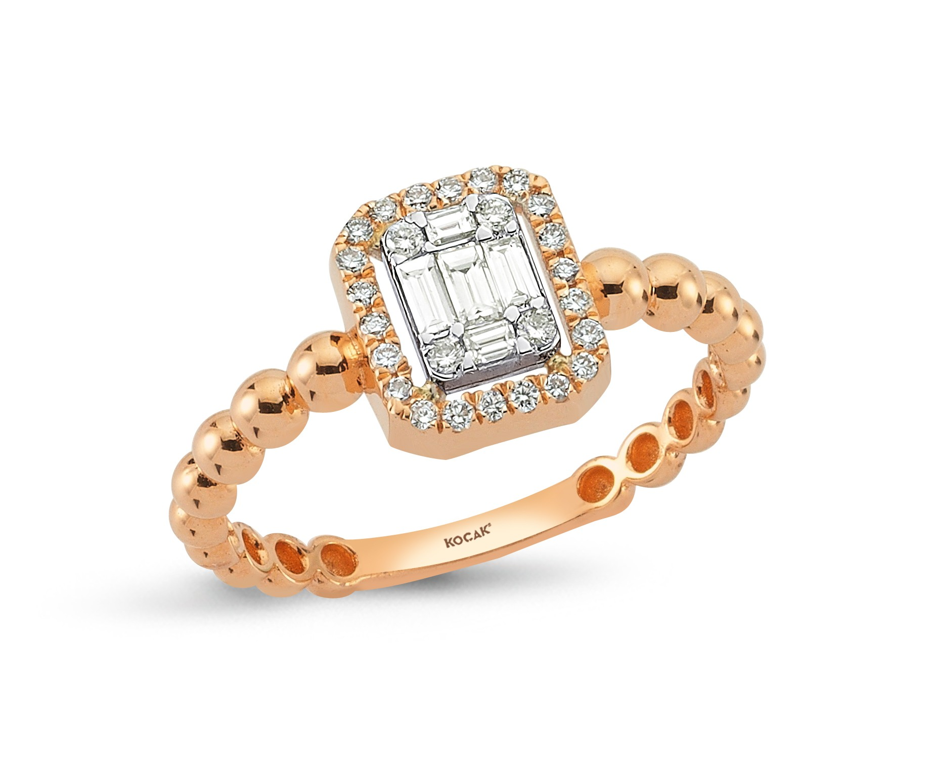 750 Kocak Gold   Baguette Diamant Ring