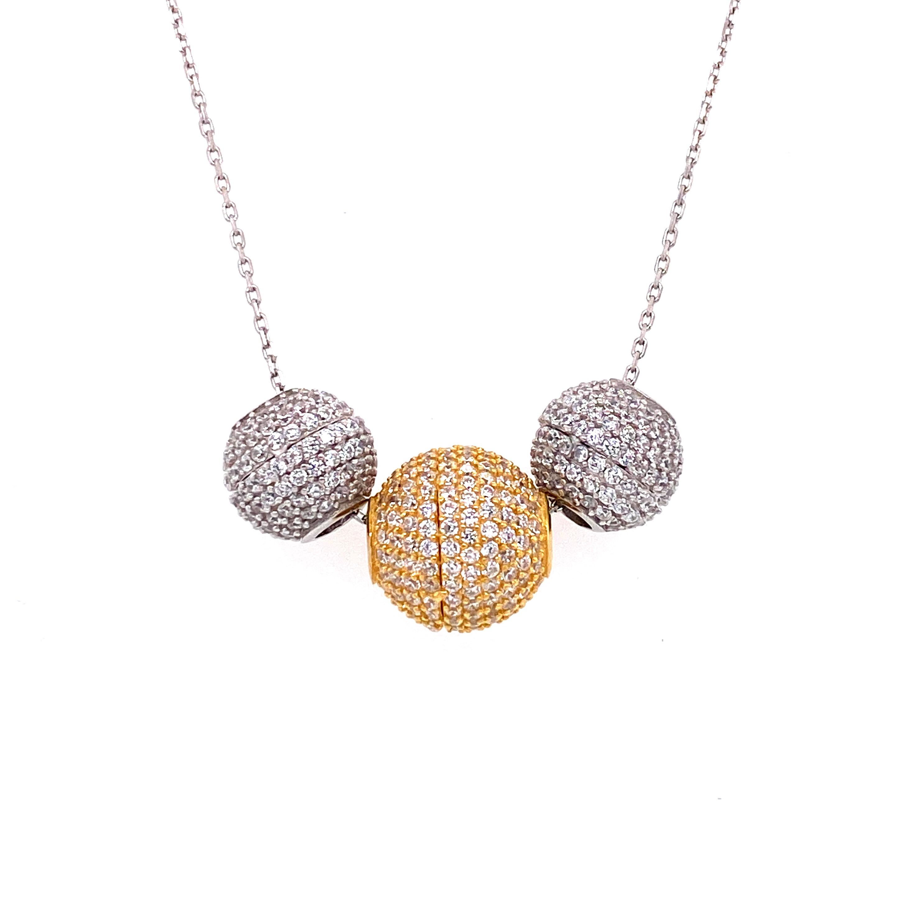 925 Silber Halskette | Kugel
