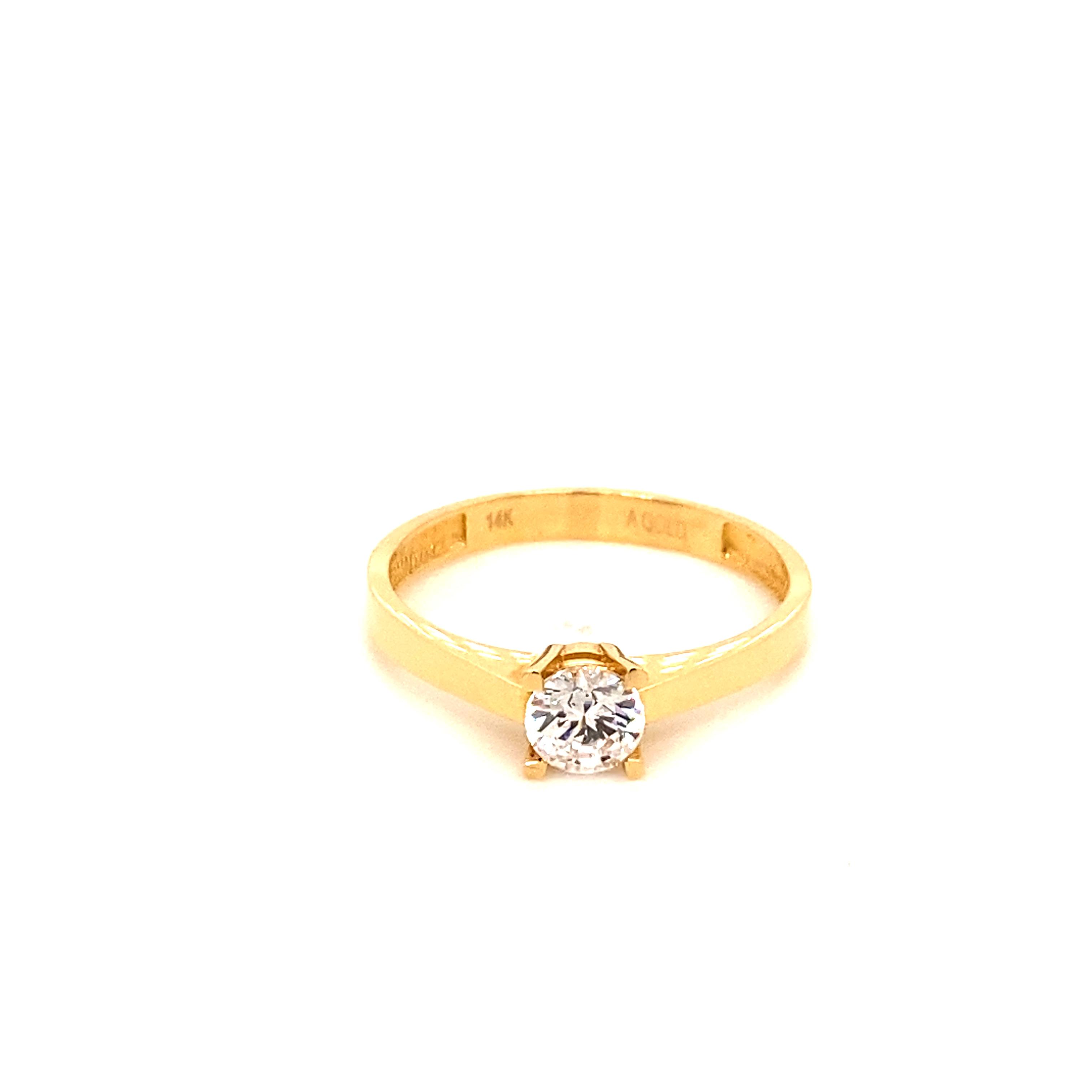 585 Gold Ring | Tek Tas Gr.59