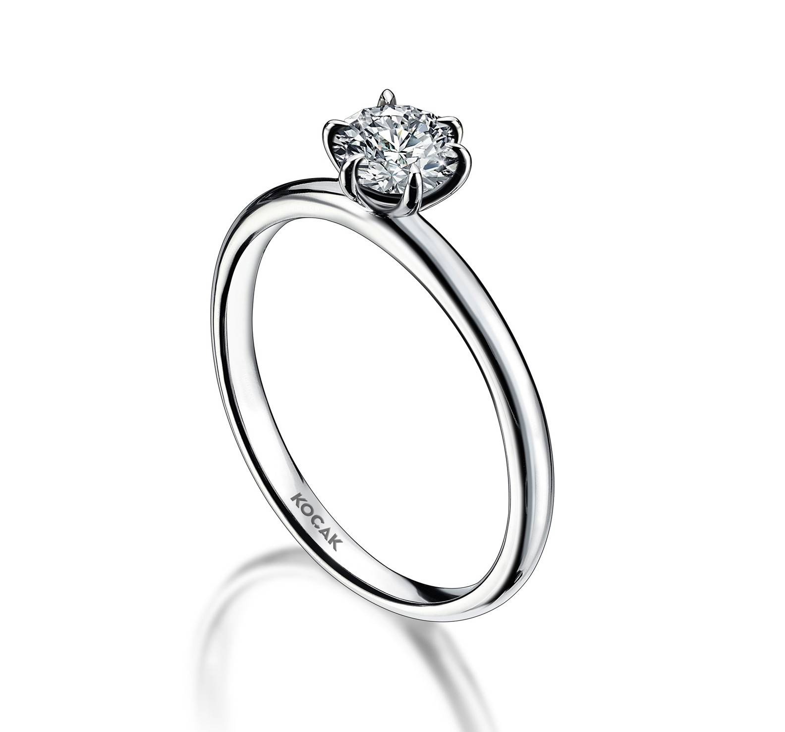 750 Kocak Gold   0.30 ct Diamant Ring