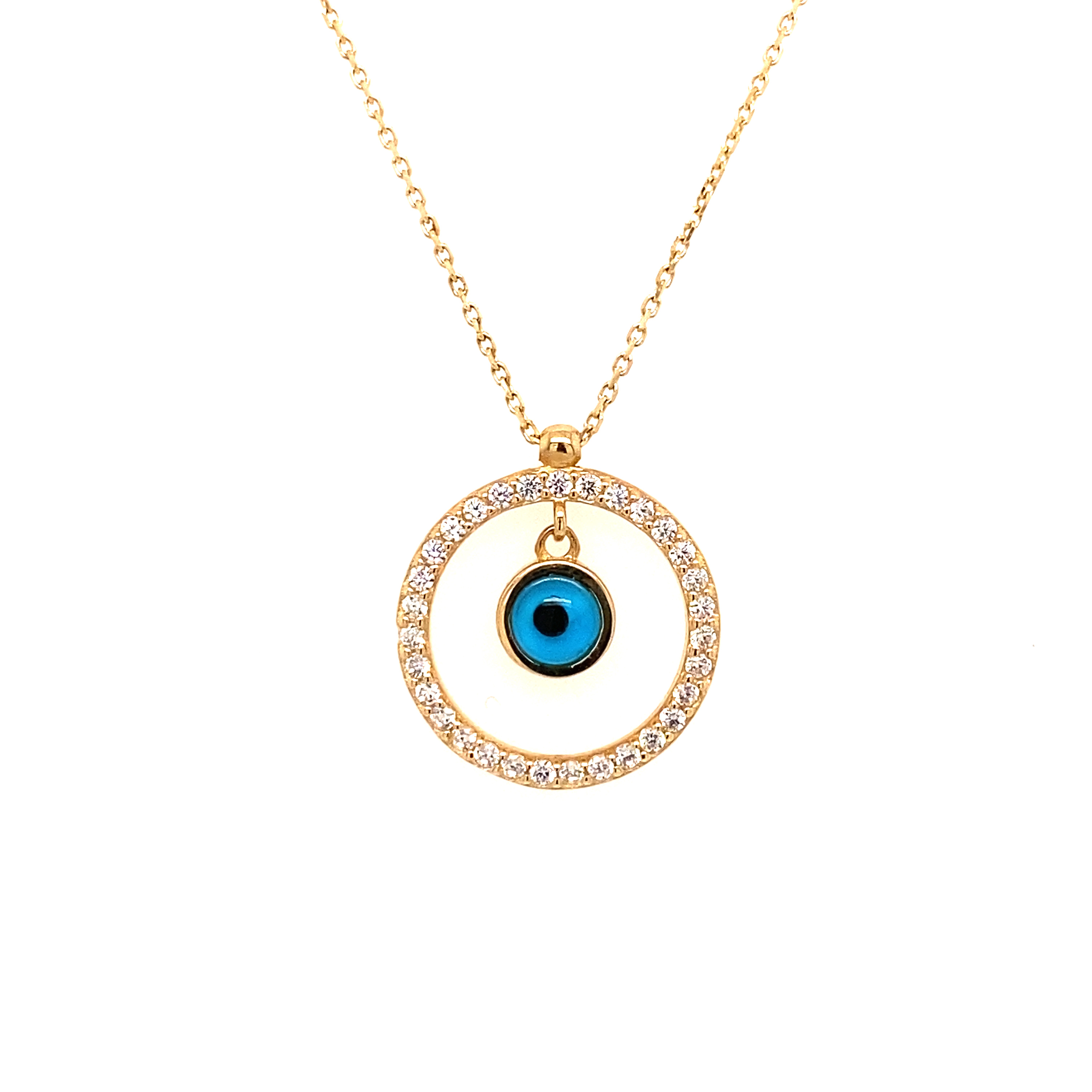 585 Goldkette | Auge Zirkonia