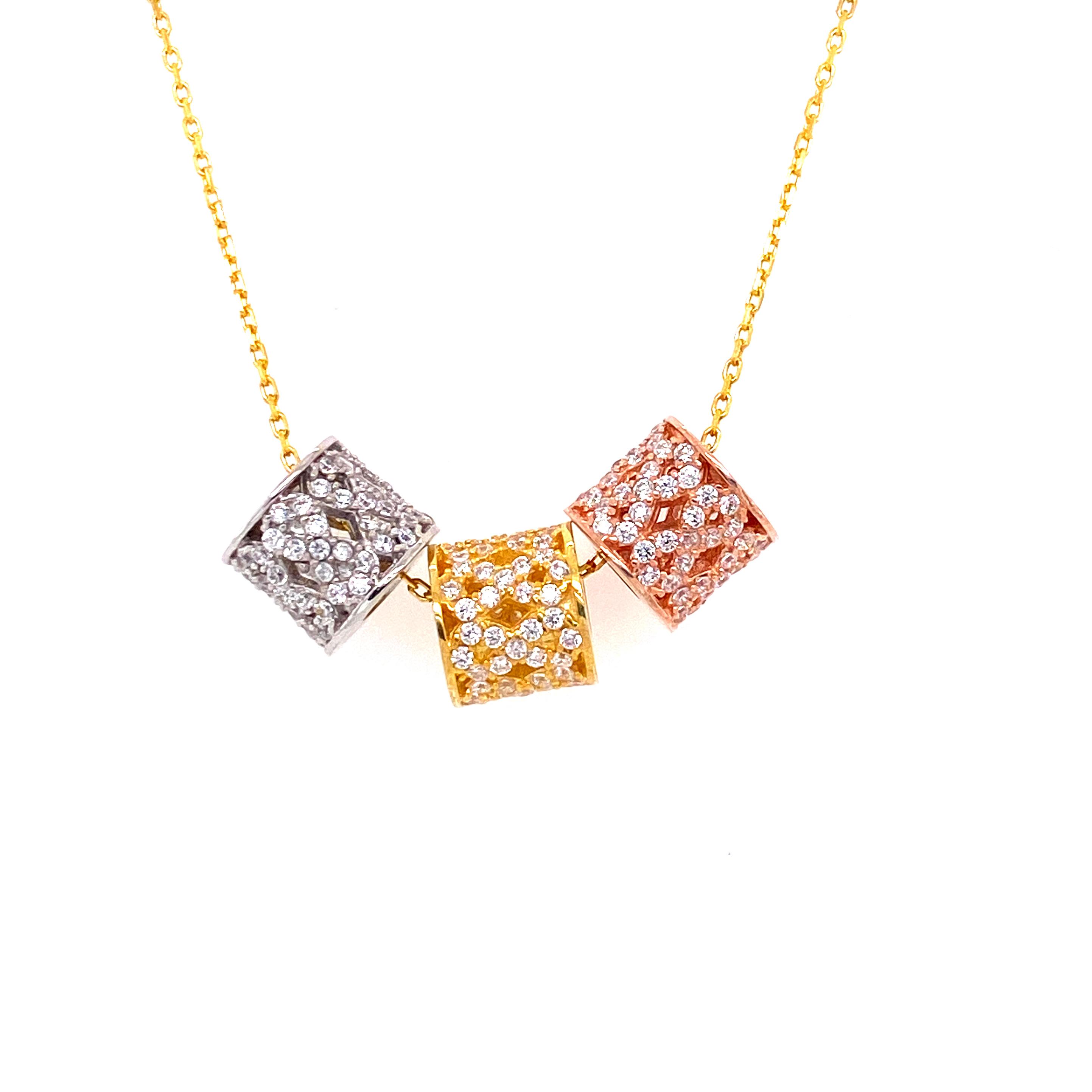 925 Silber Halskette | 3er unendlich