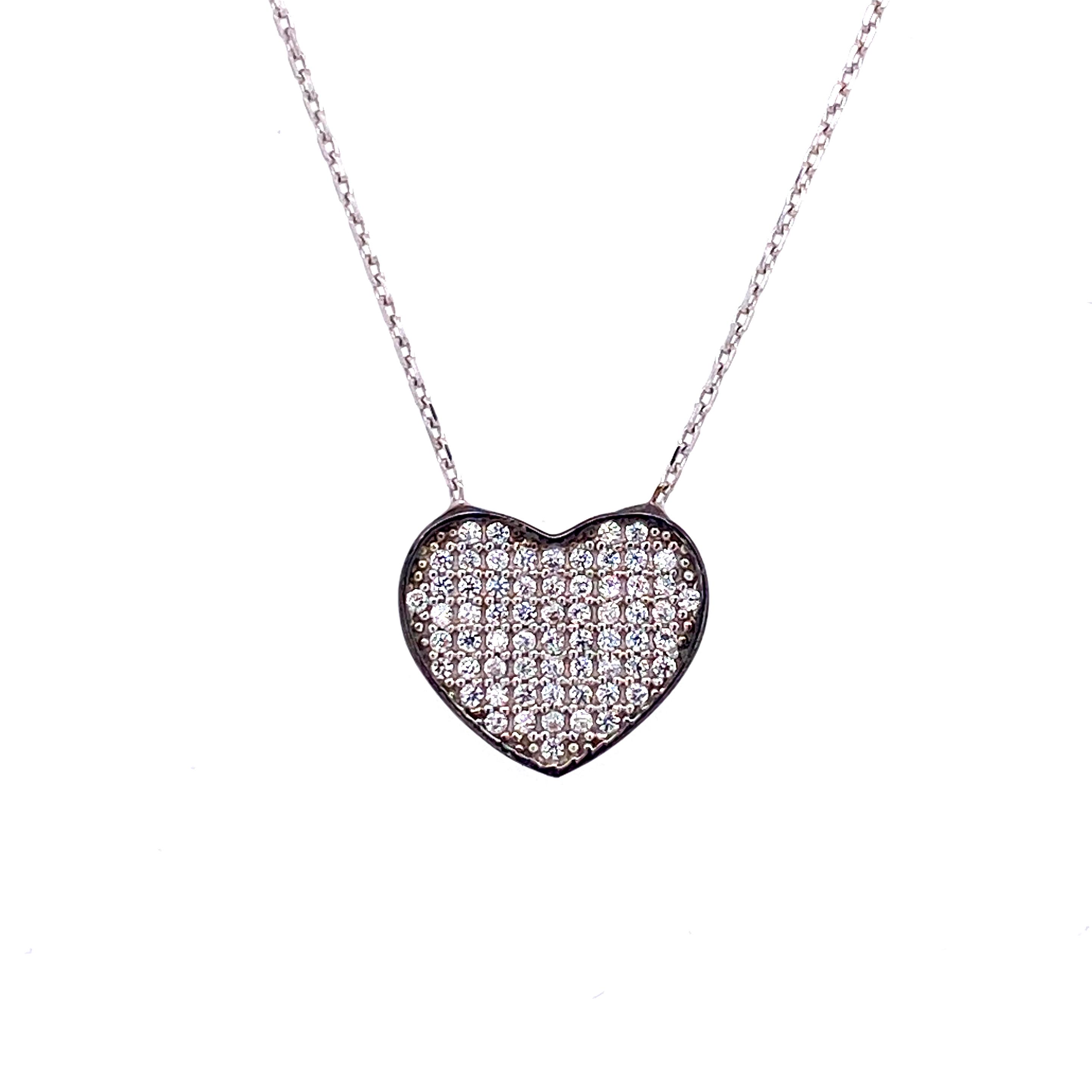 925 Silber Halskette | Herz