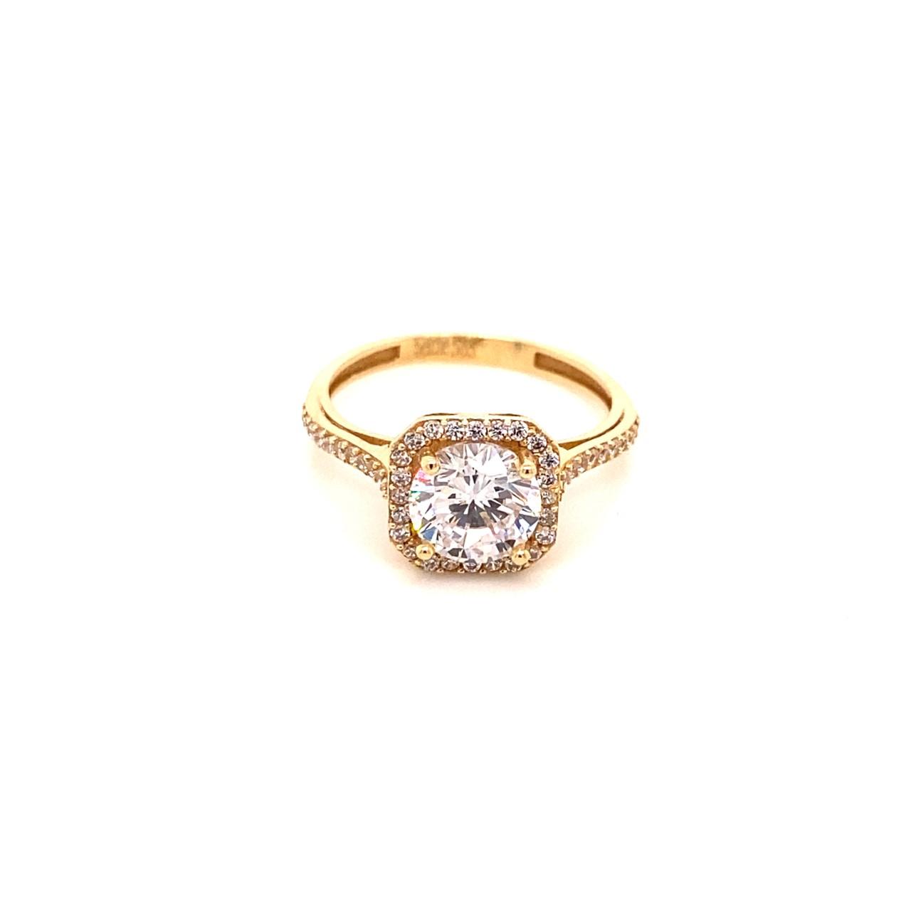 585 Gold Ring | Baguette