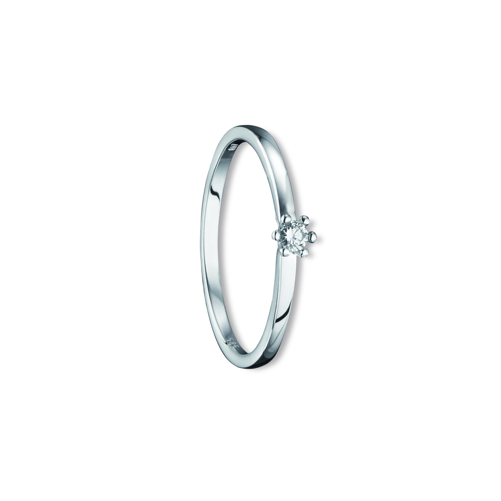 585 Gold Brillant   Ring 0,07 ct