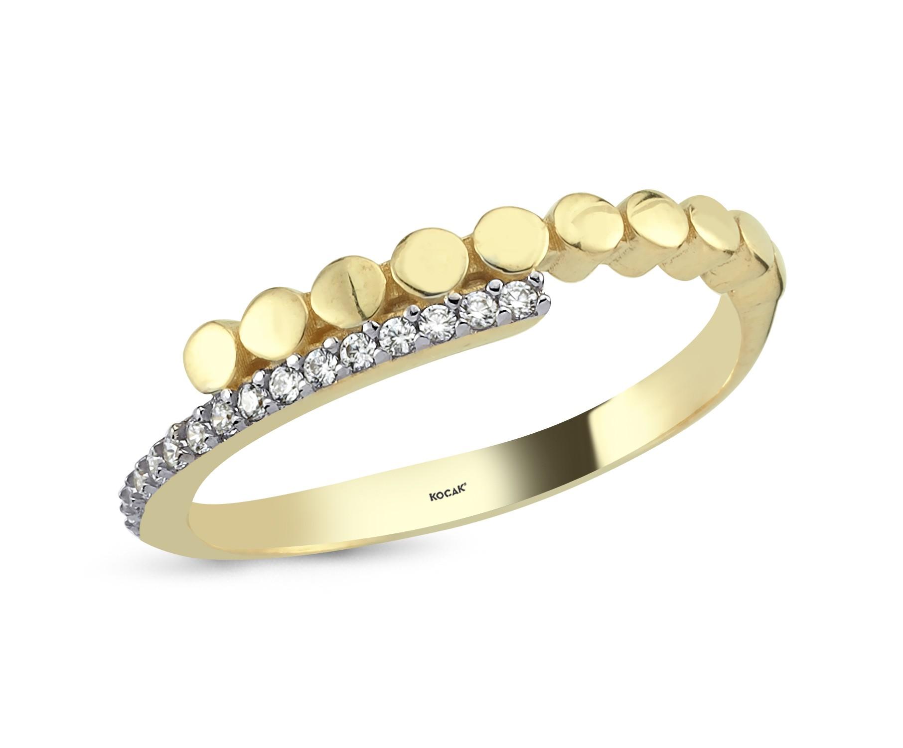 585 Kocak  Gold Ring | Double