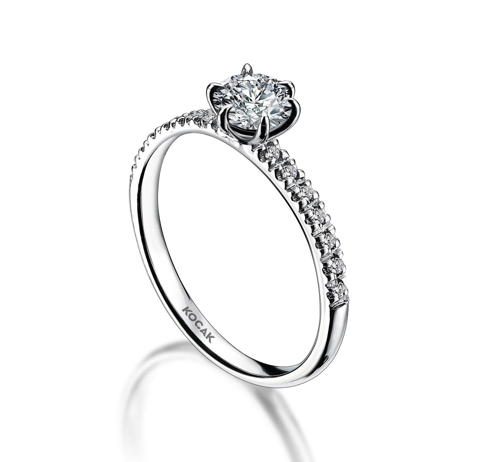 750 Kocak Gold   0.35 ct Diamant Ring