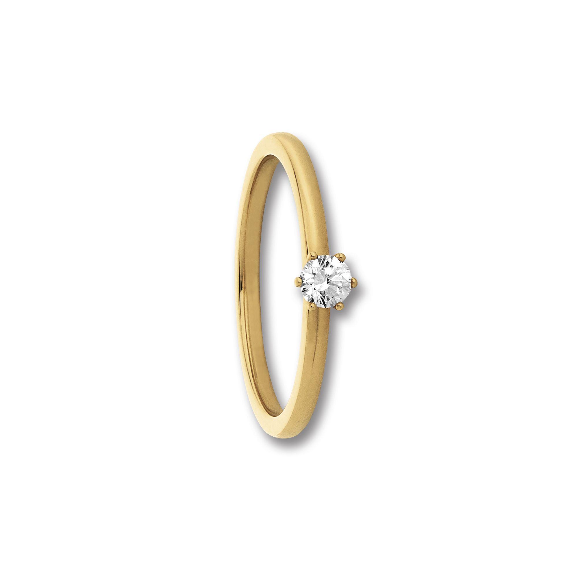 585 Gold Brillant   Ring 0,10 ct