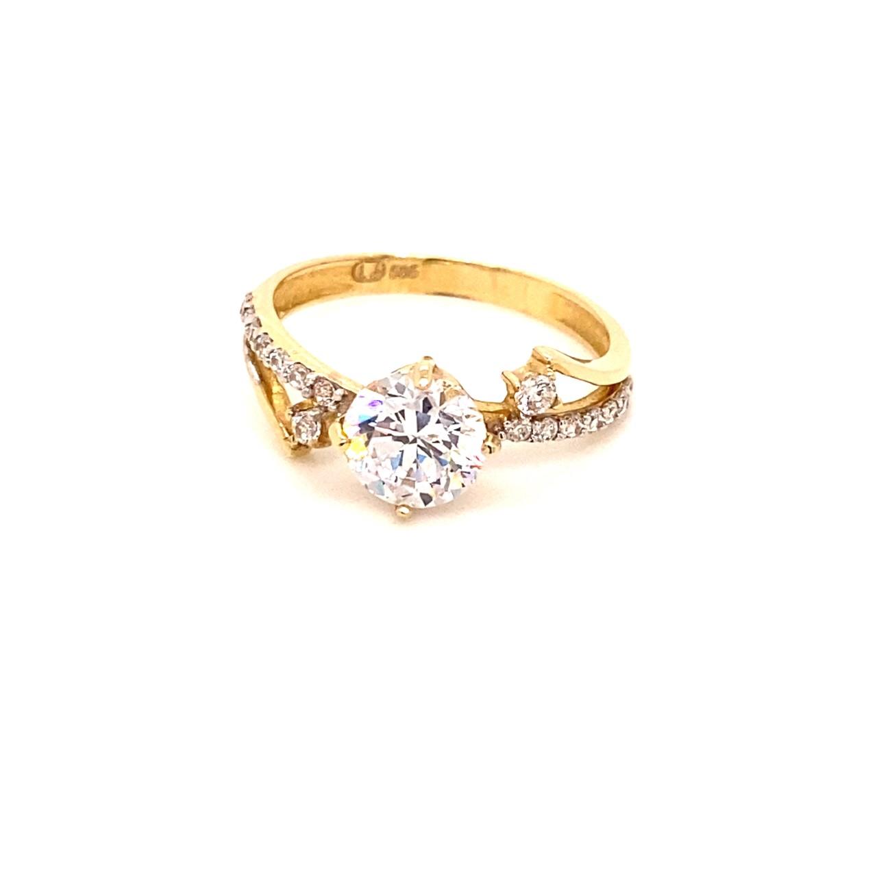 585 Gold Ring | Tek Tas Gr. 58