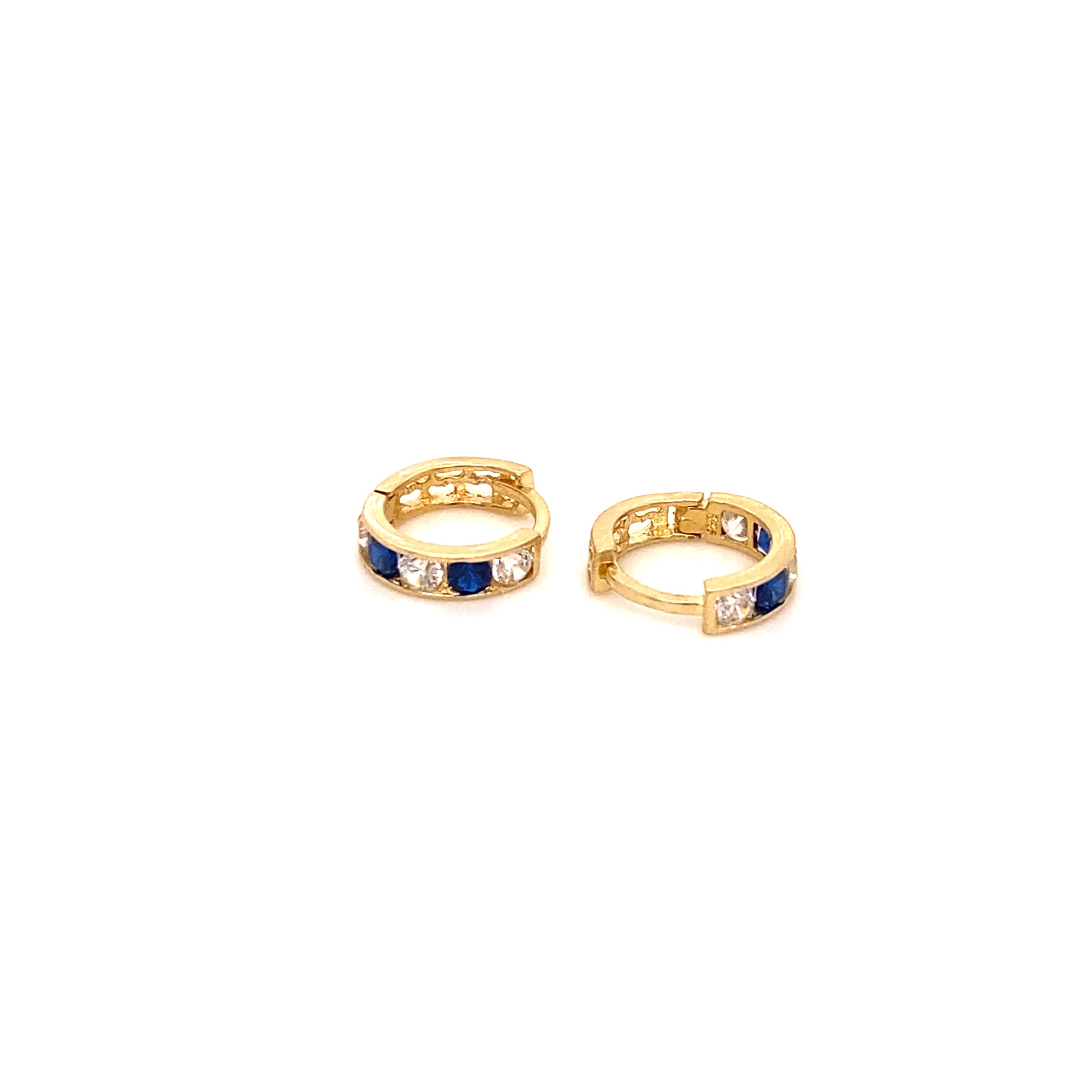 585 Gold Ohrring  | Blue Round