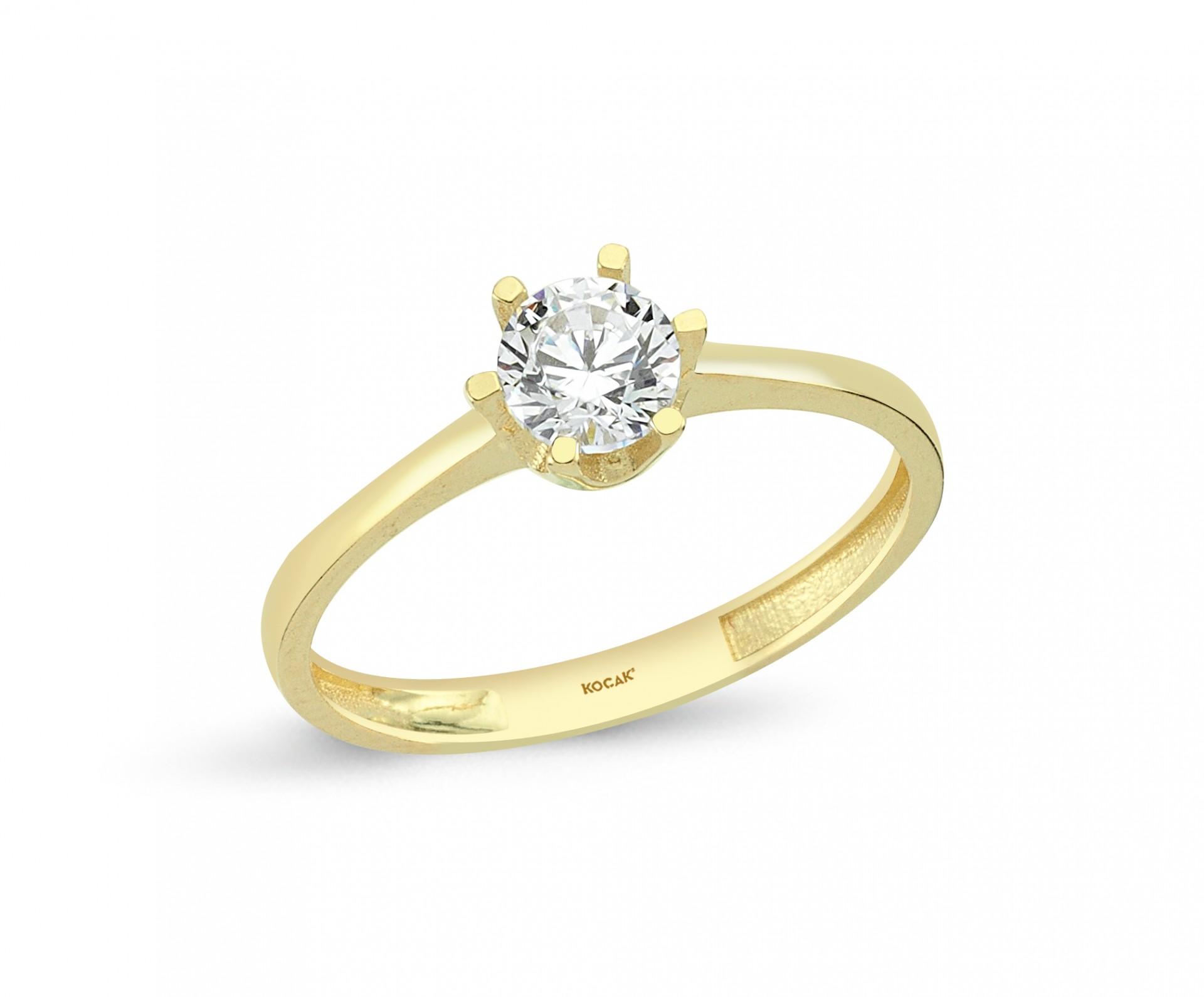 585 Kocak  Gold Ring | One Stone