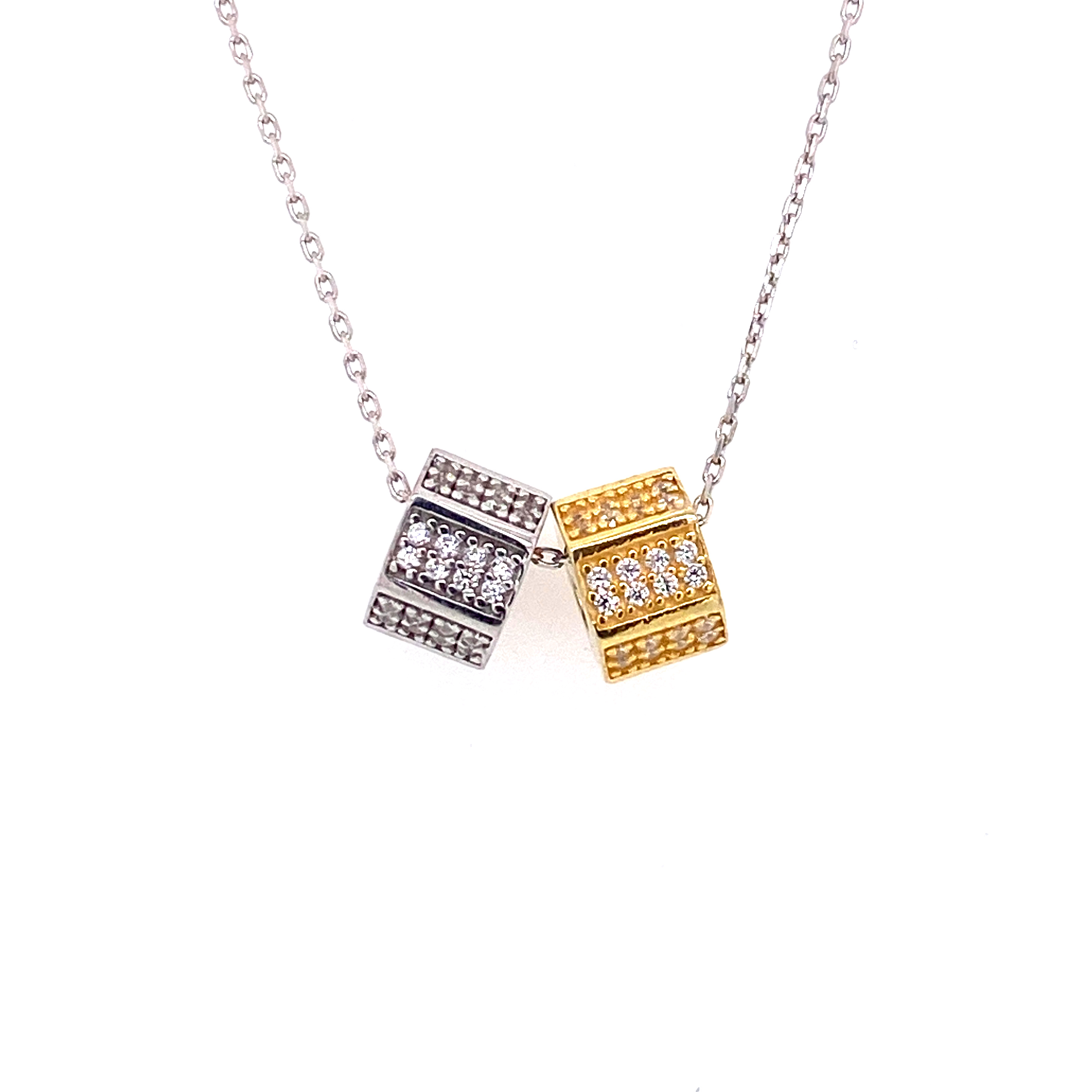 925 Silber Halskette | Sechseck