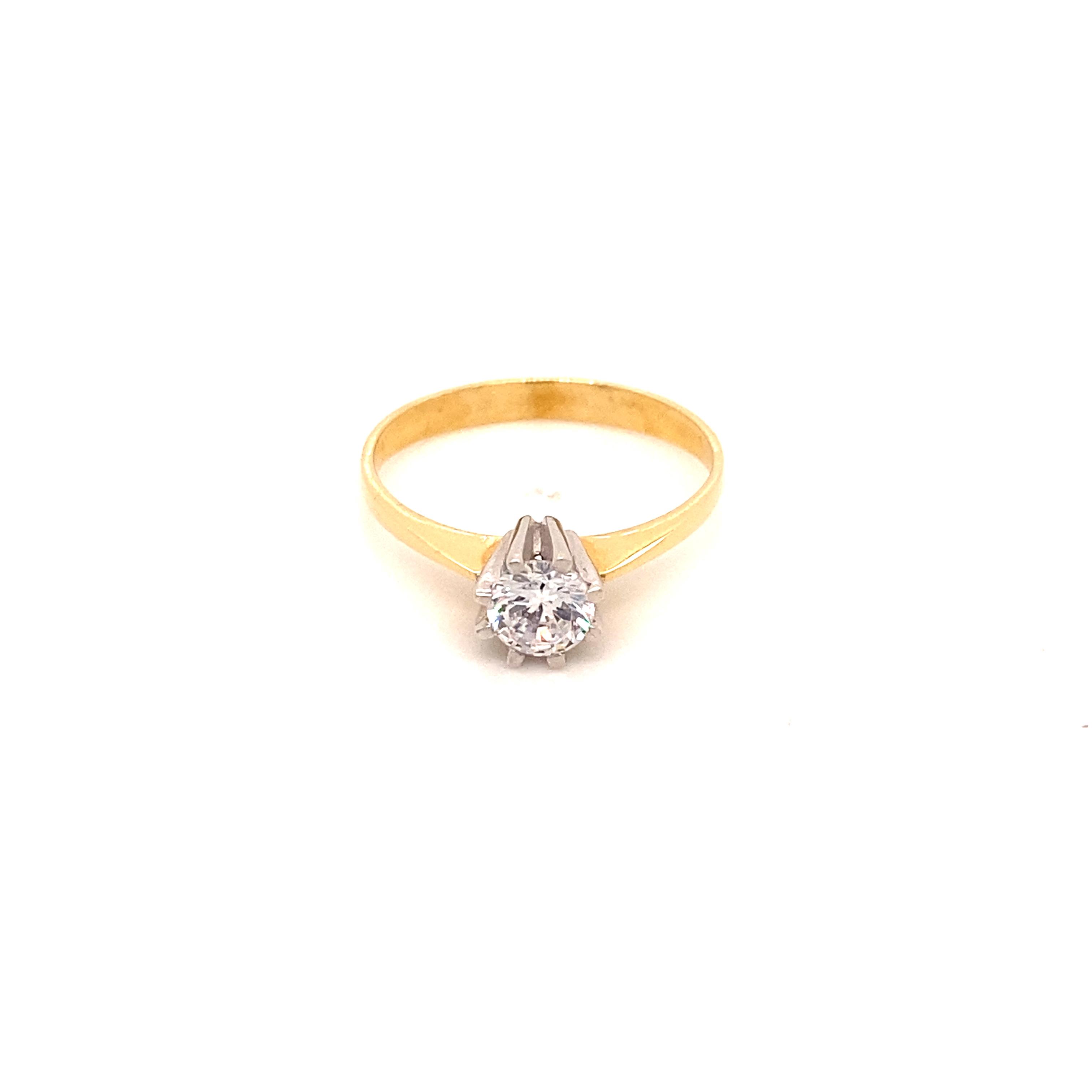 585 Gold Ring | Tek Tas  Gr.55