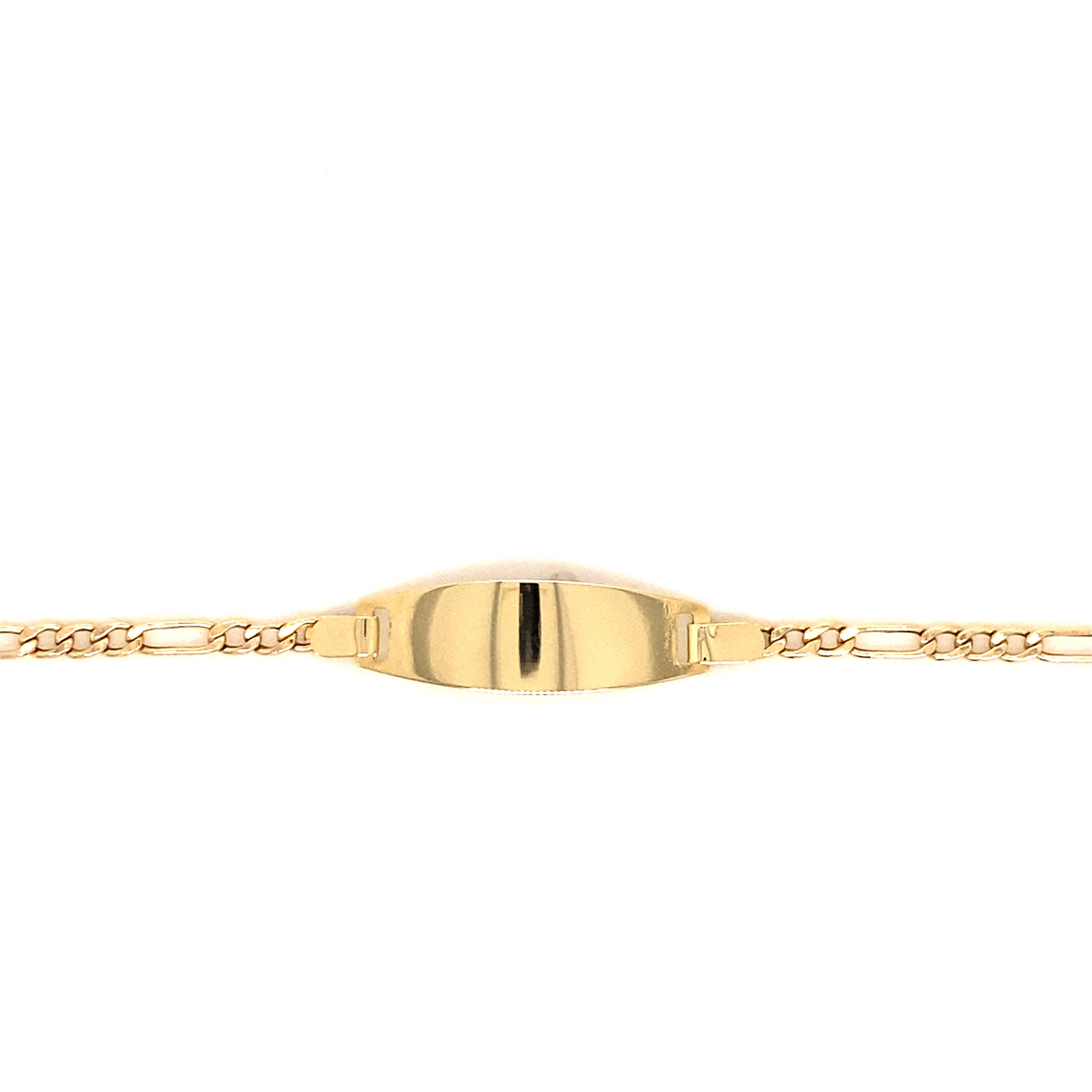 585 Gold Armband   Figaro