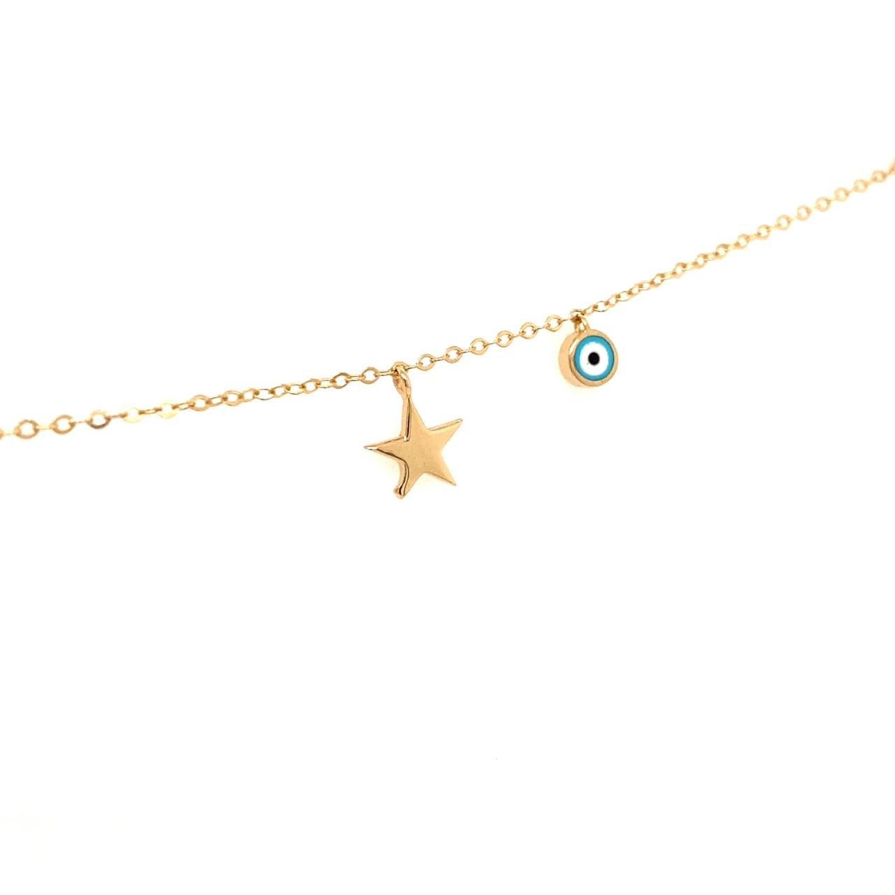 585 Gold Armkette | Eye Star