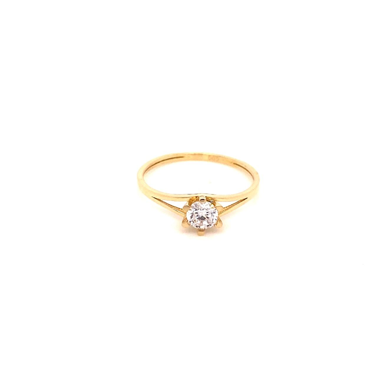 585 Gold Ring | Tek Tas Gr. 52