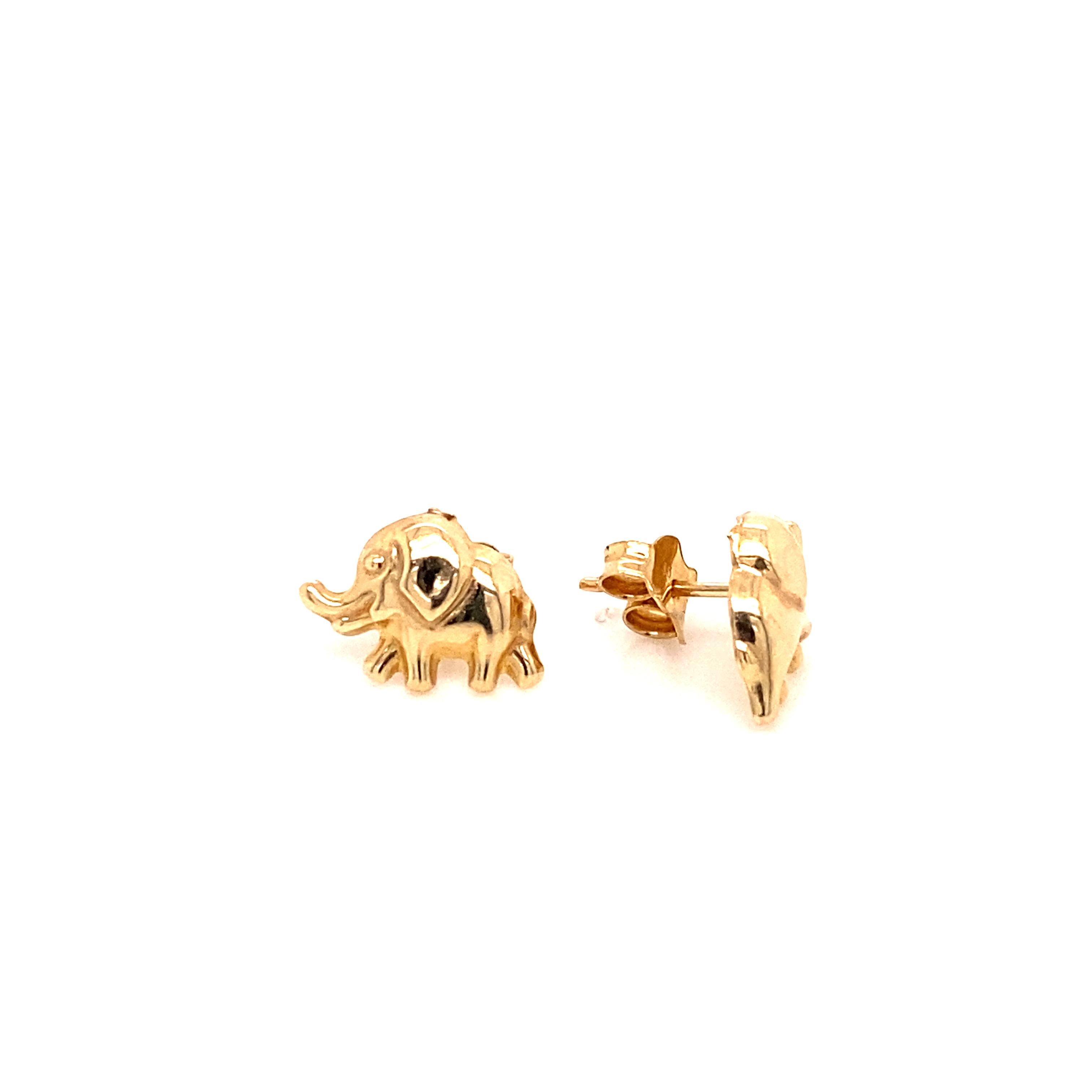 585 Gold Ohrring  | Elefant