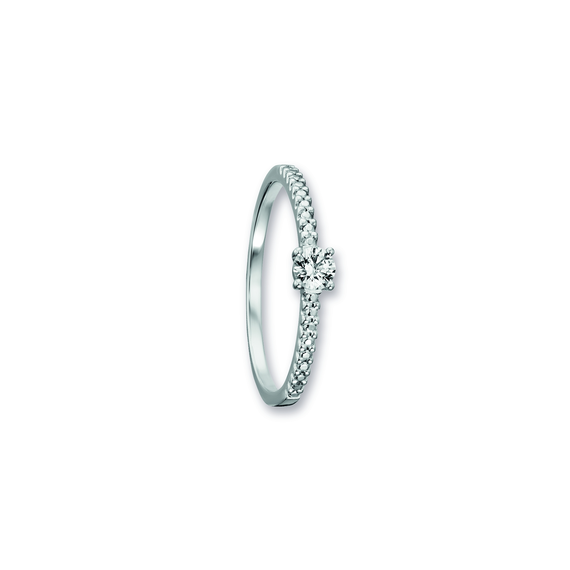 333 Weiß Gold | Ring Zirkonia