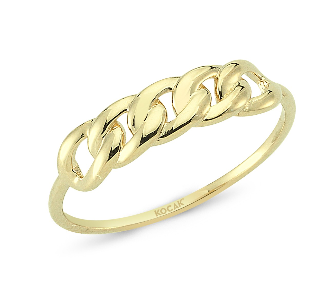 585 Kocak  Gold Ring |  Geflochtenes Muster