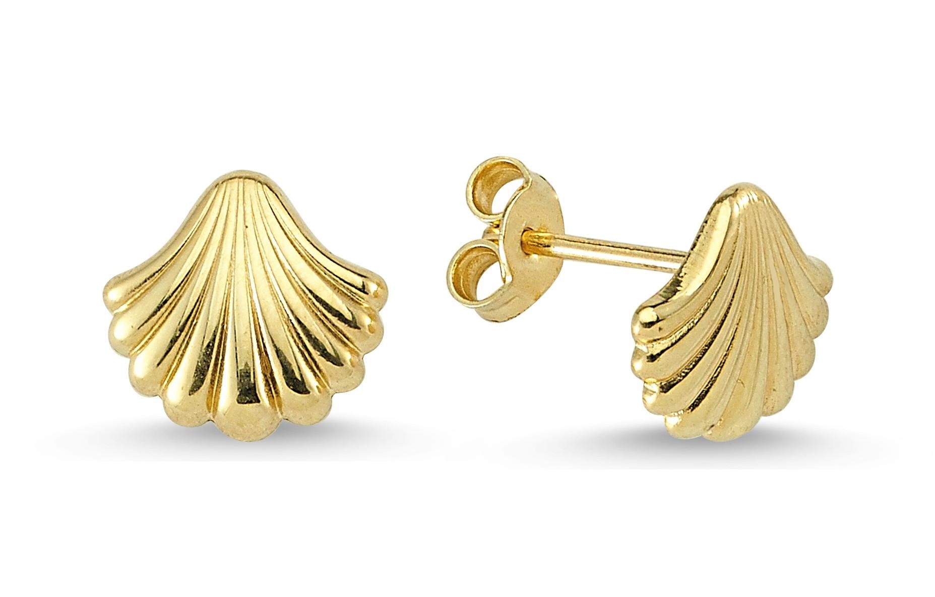 585 Kocak Gold Ohrring  | Muschel