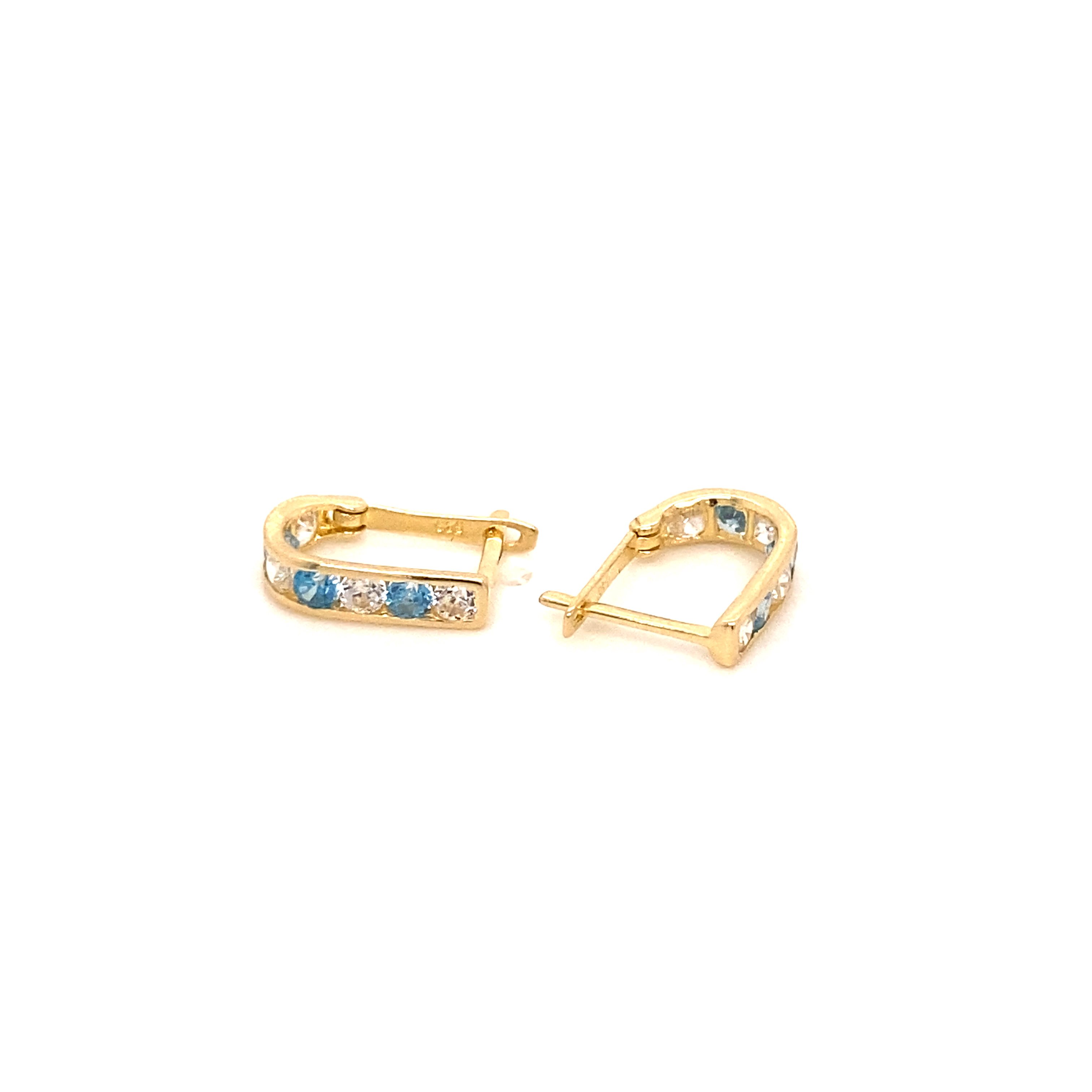 585 Gold Ohrring  |  Blue  one