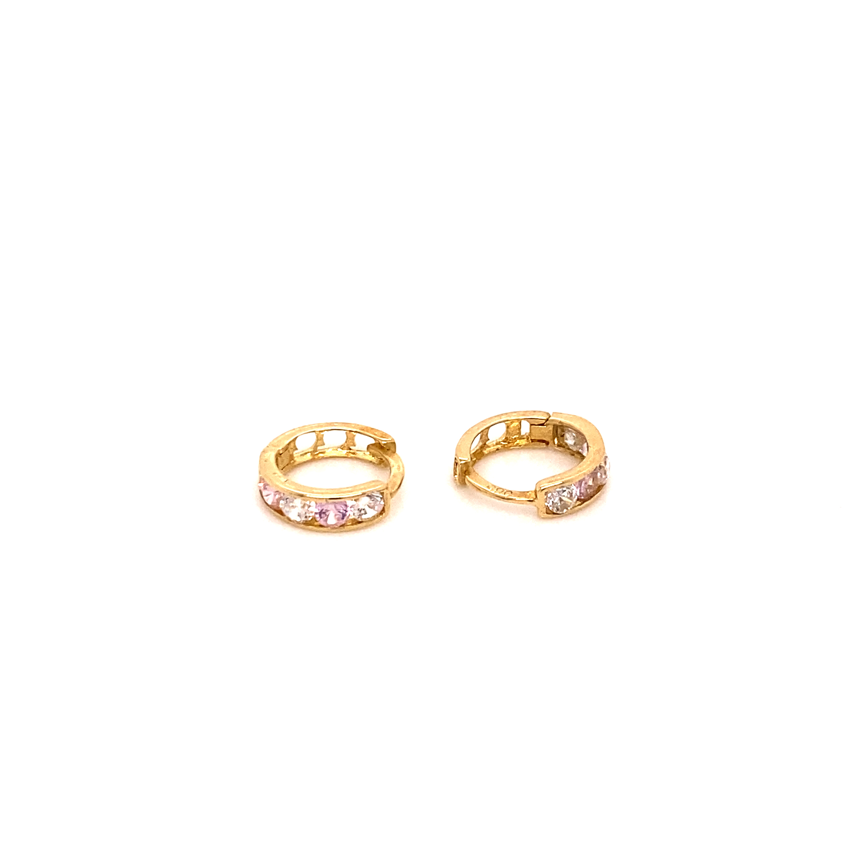 585 Gold Ohrring  | Lila Round