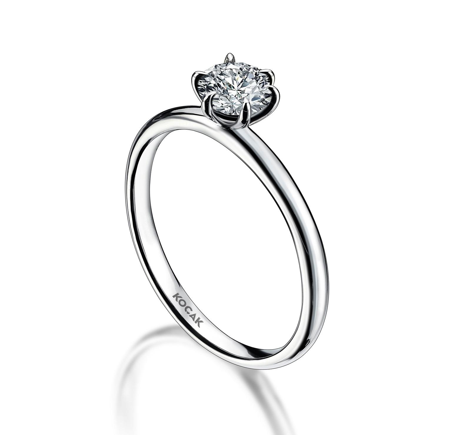 750 Kocak Gold | 0.30 ct Diamant Ring
