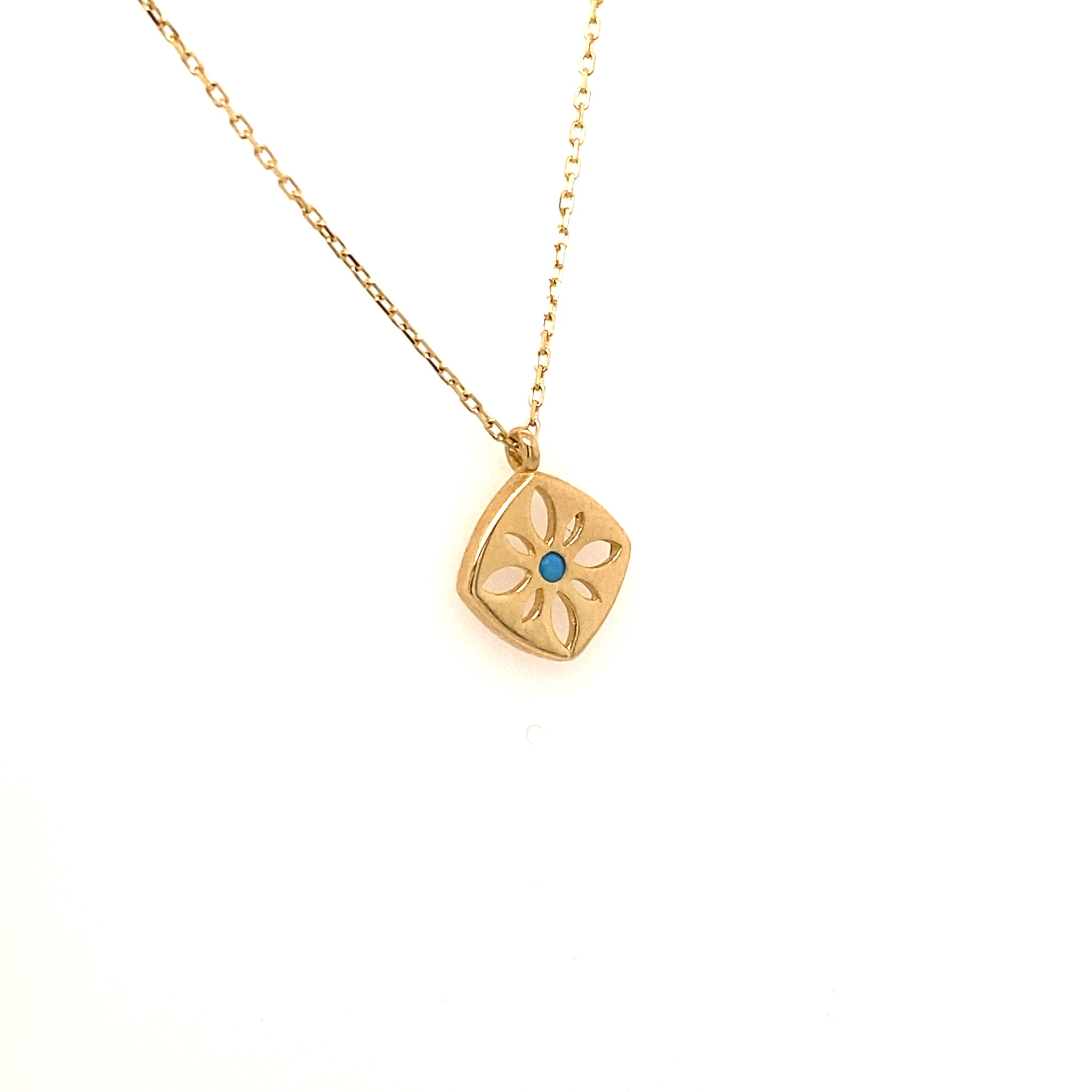 585 Goldkette | Blue Stone