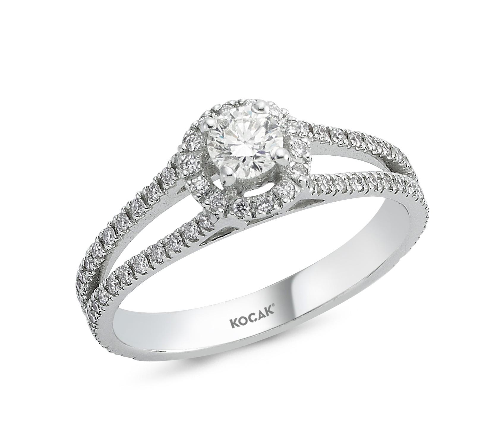 585 Kocak Weißold Ring | PIRLANTA YÜZÜK