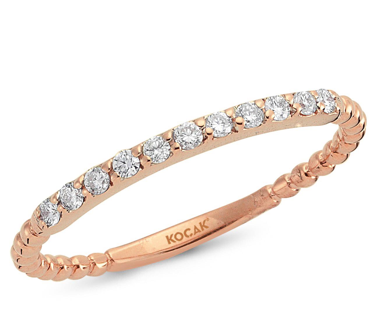 750 Kocak Gold | 0.15 ct Diamant Rosé Ring