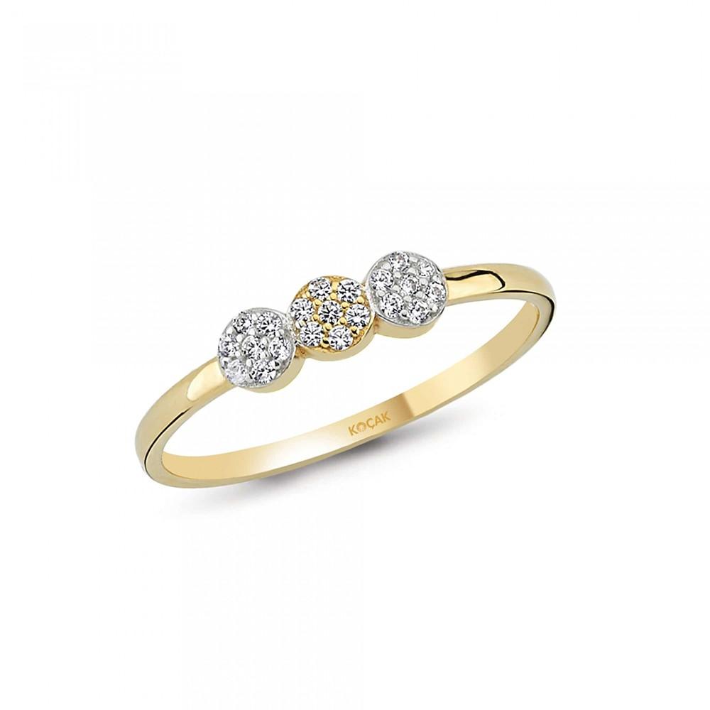 585 Kocak  Gold Ring | Drei Kreise