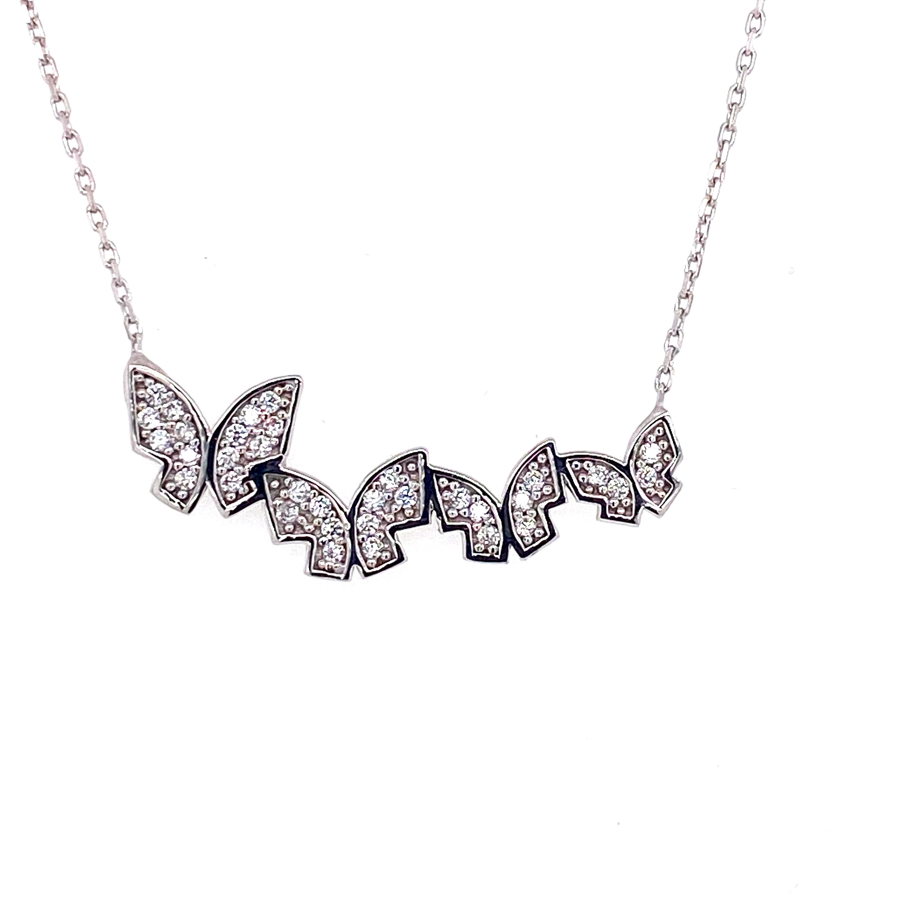 925 Silber Halskette | Schmetterlinge