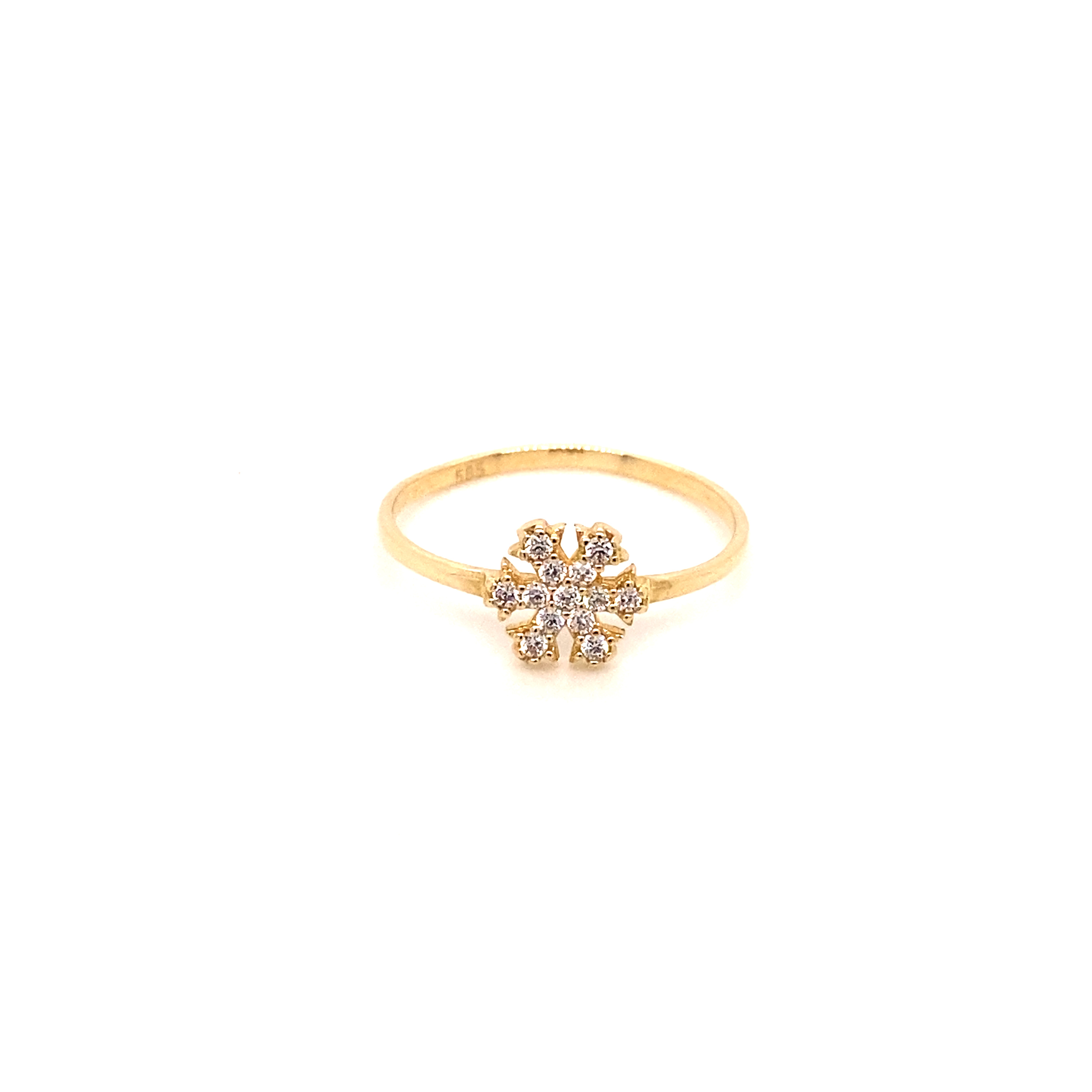 585 Gold Ring | Schneeflocke