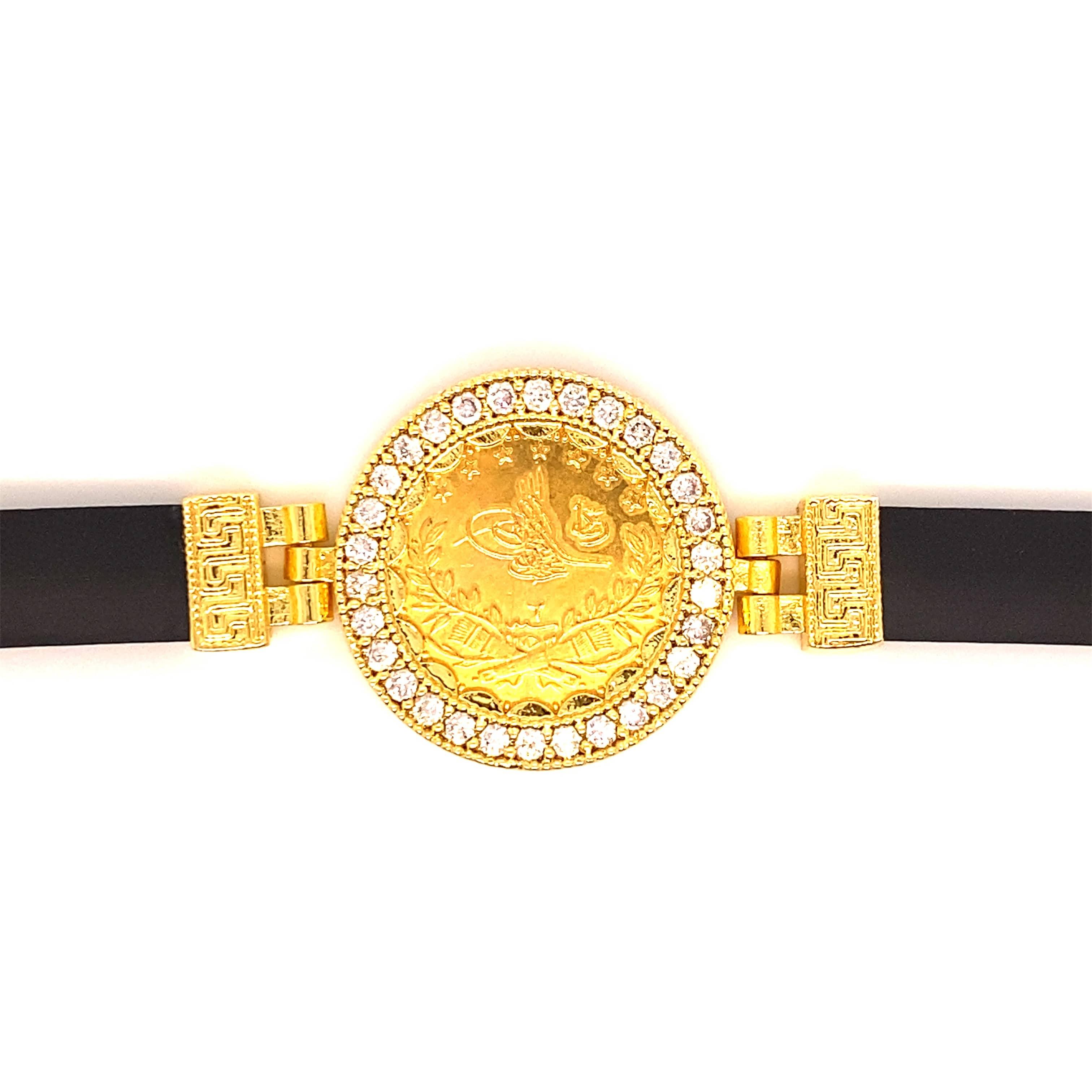 Kautschuk Armband für Münze