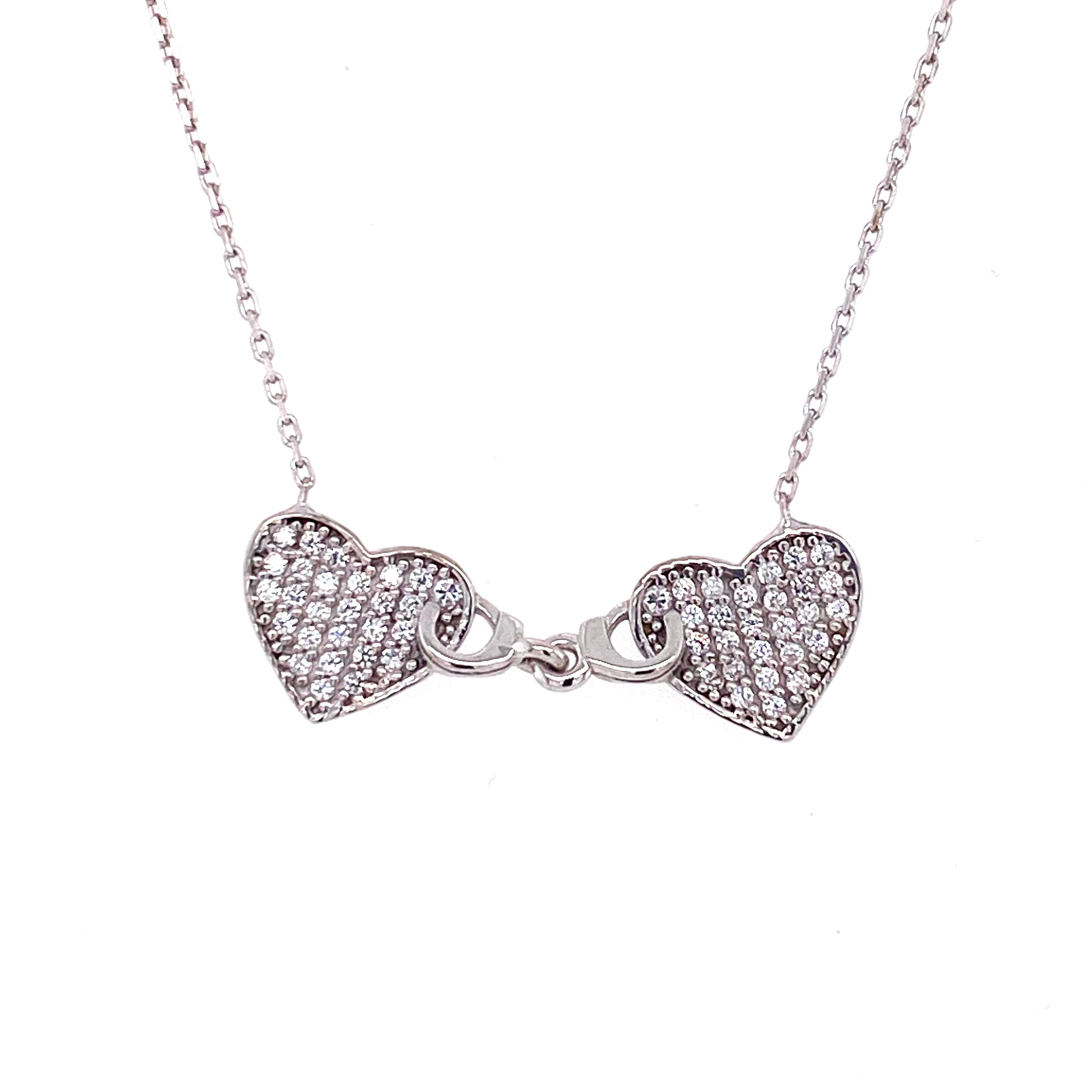 925 Silber Halskette | Herzen