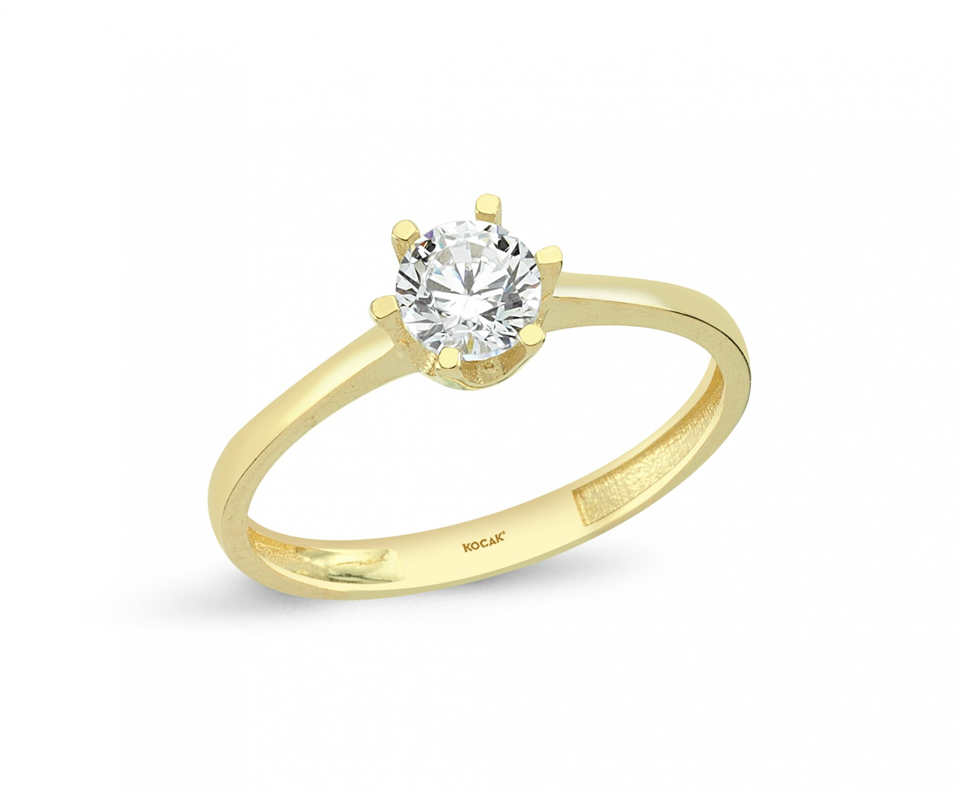 585 Kocak  Gold Ring | One Stone