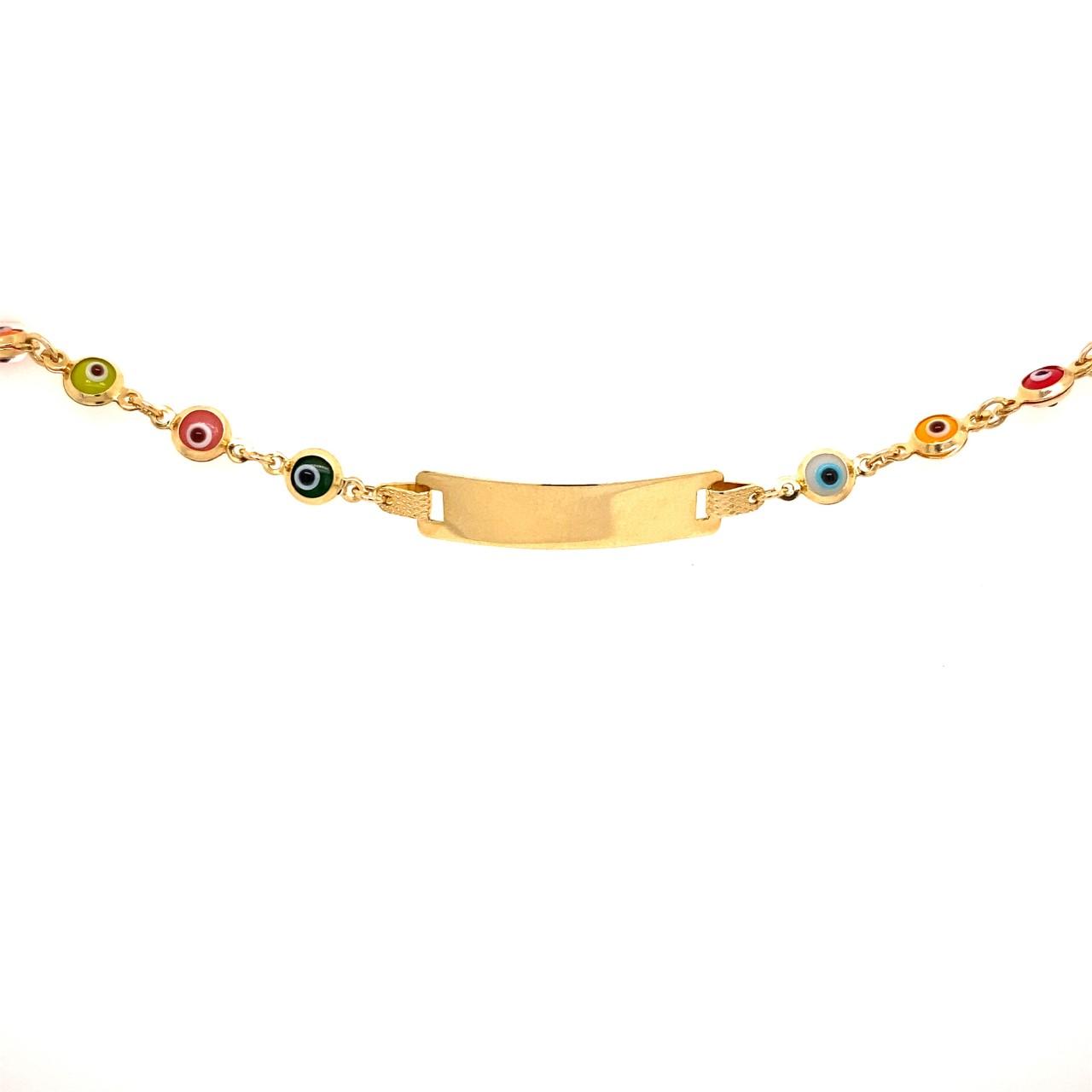 585 Gold Armband | Nazar