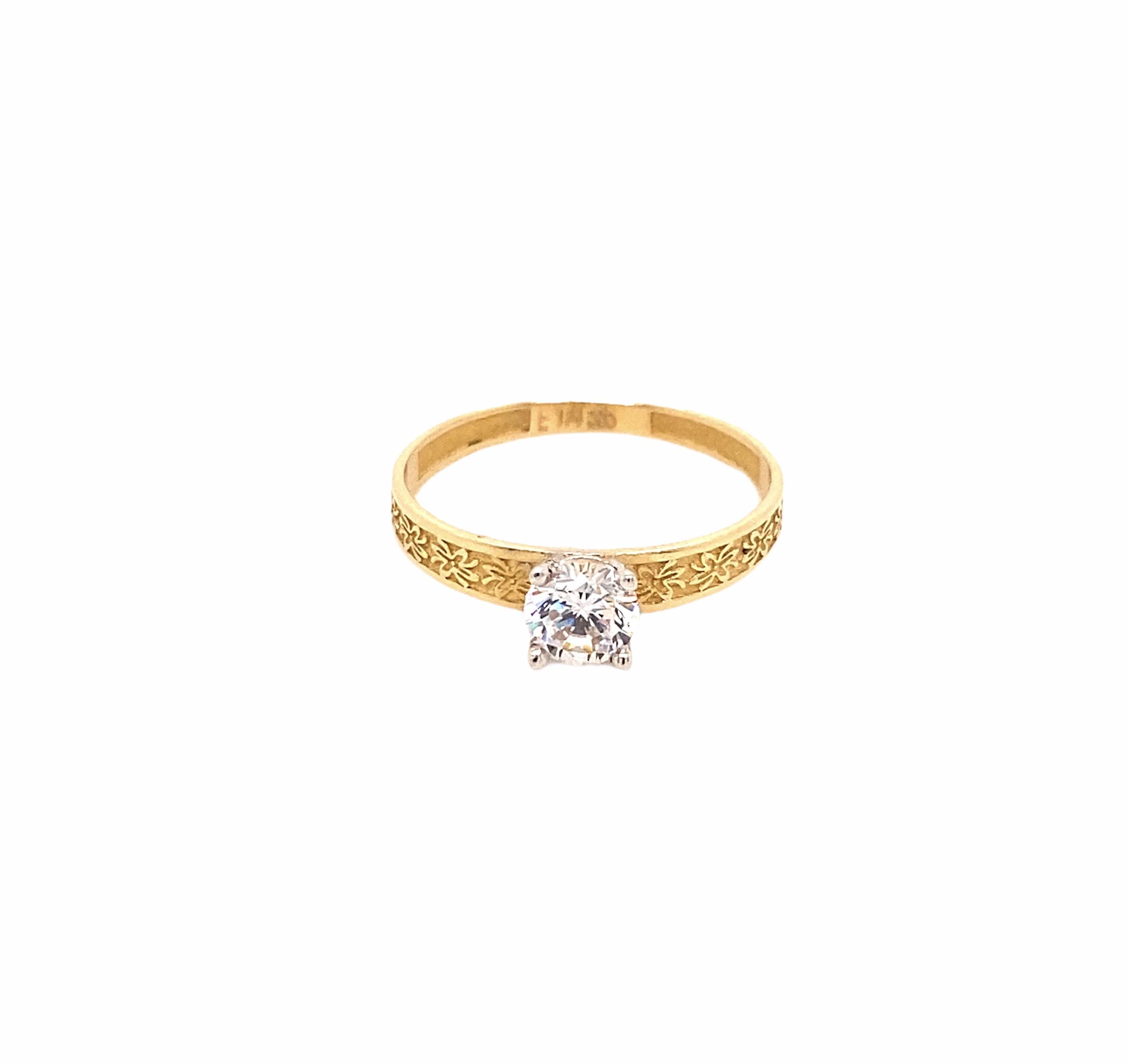 585 Gold Ring | Tek Tas  Gr.58