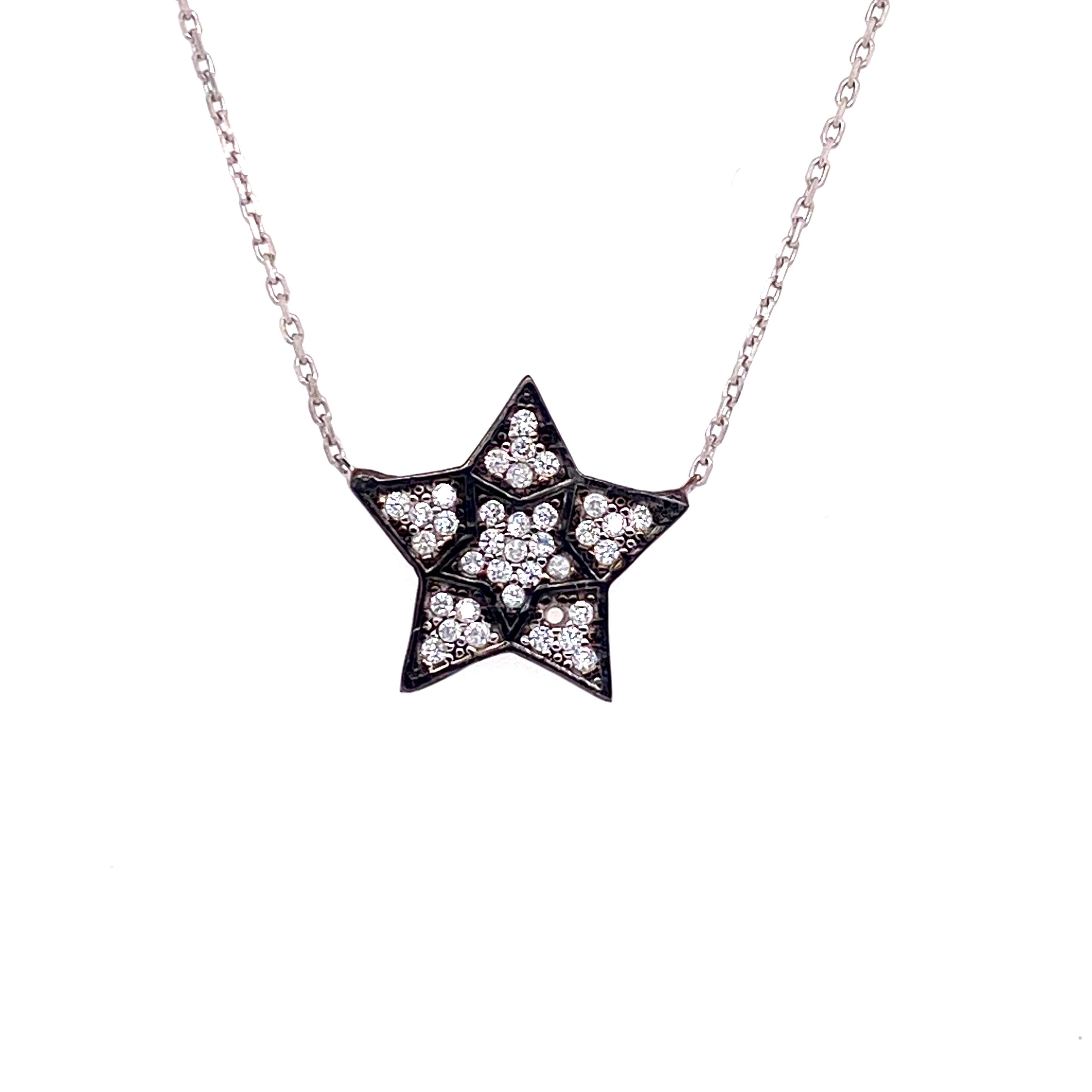 925 Silber Halskette | Stern