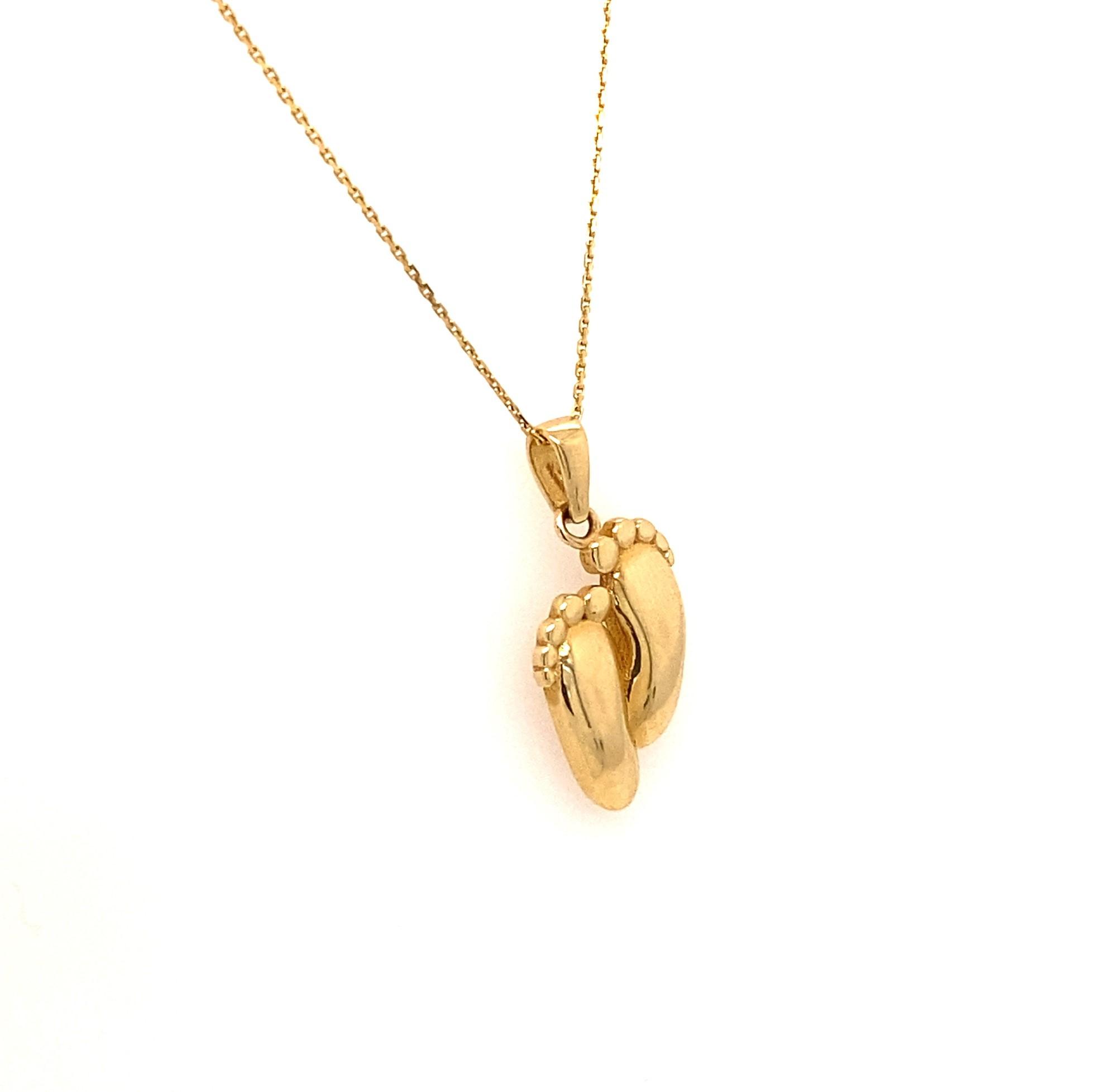 585 Goldkette | Babyfüße