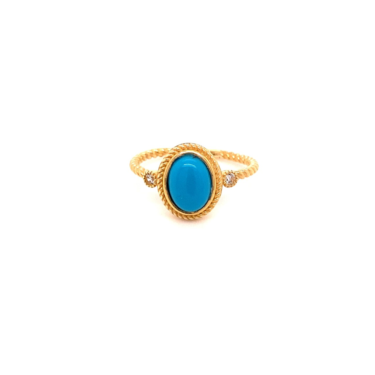585 Gold Ring | Blue One Gr. 52