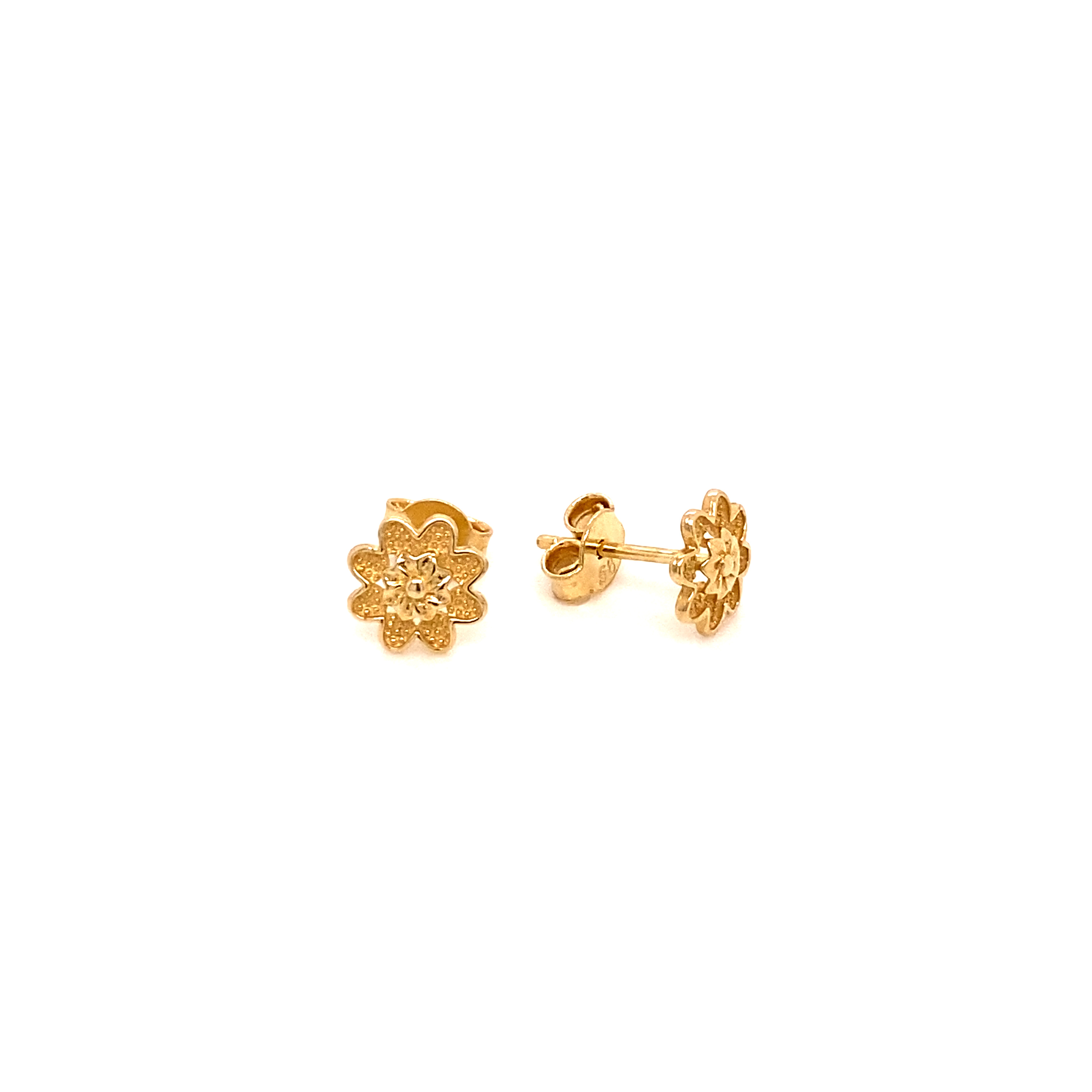 585 Gold Ohrring  | Flower Sun